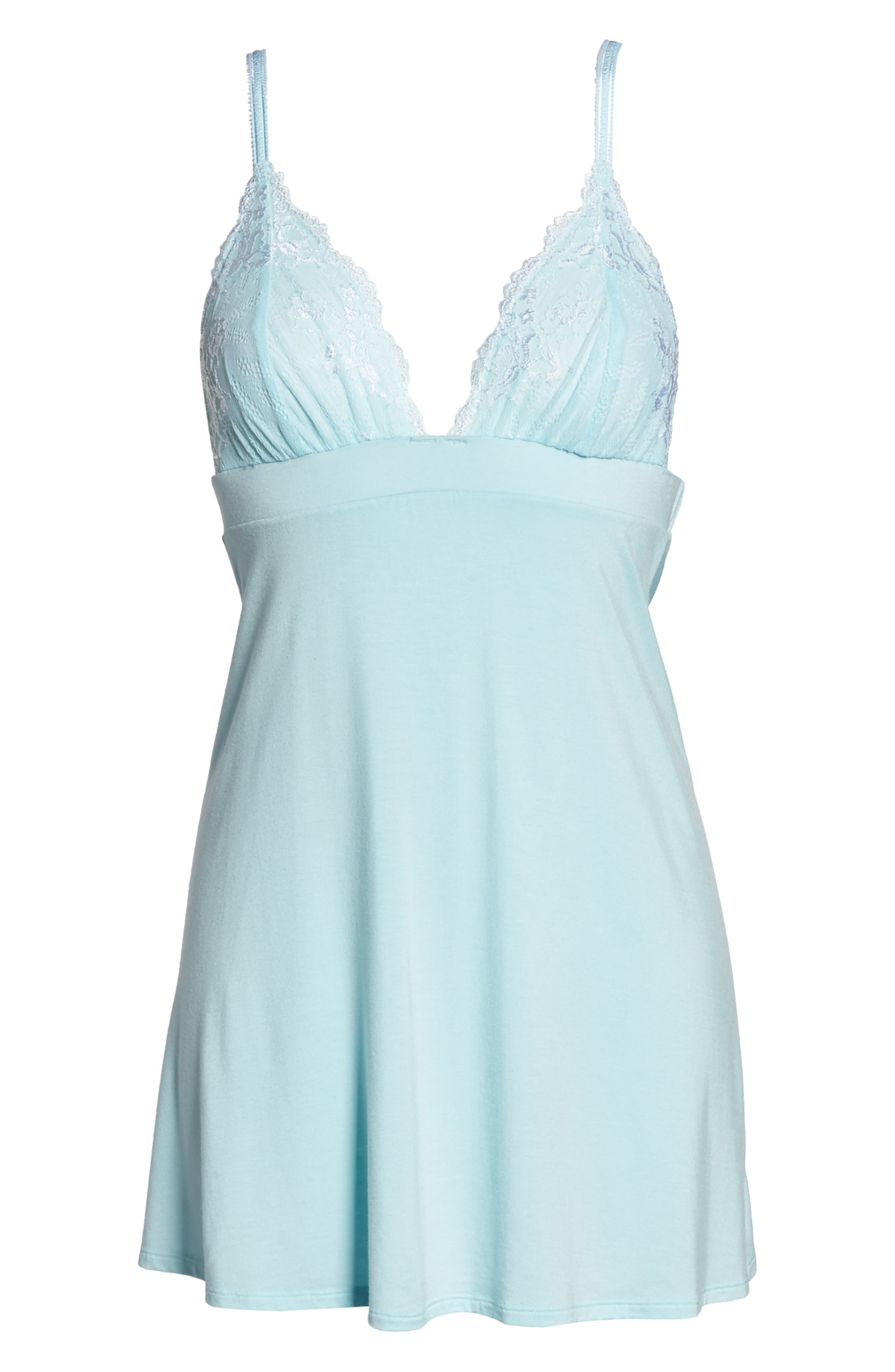 Demure Chemise,                             Alternate thumbnail 6, color,                             Bridal Blue