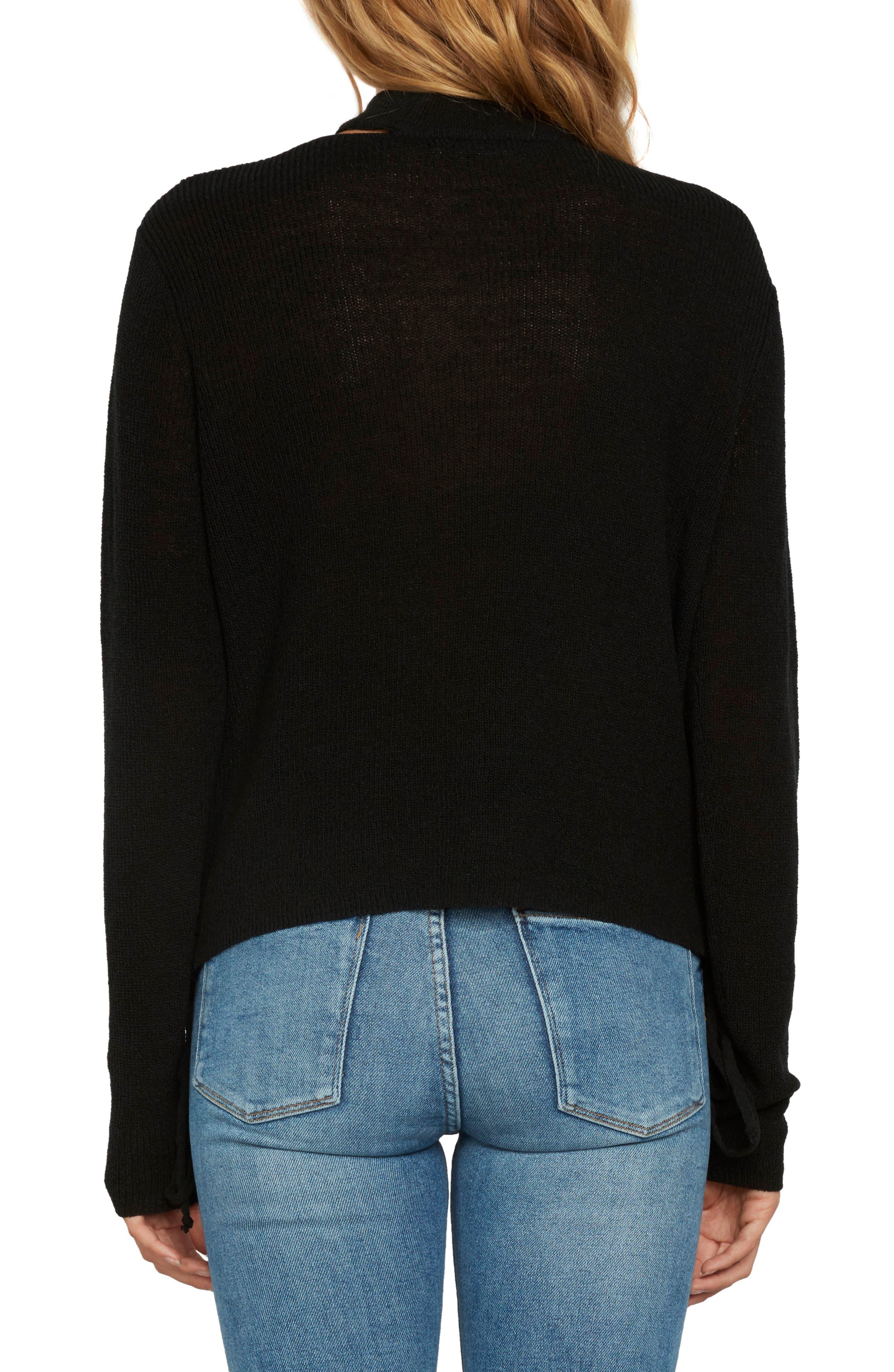 Choker Sweater,                             Alternate thumbnail 2, color,                             Black