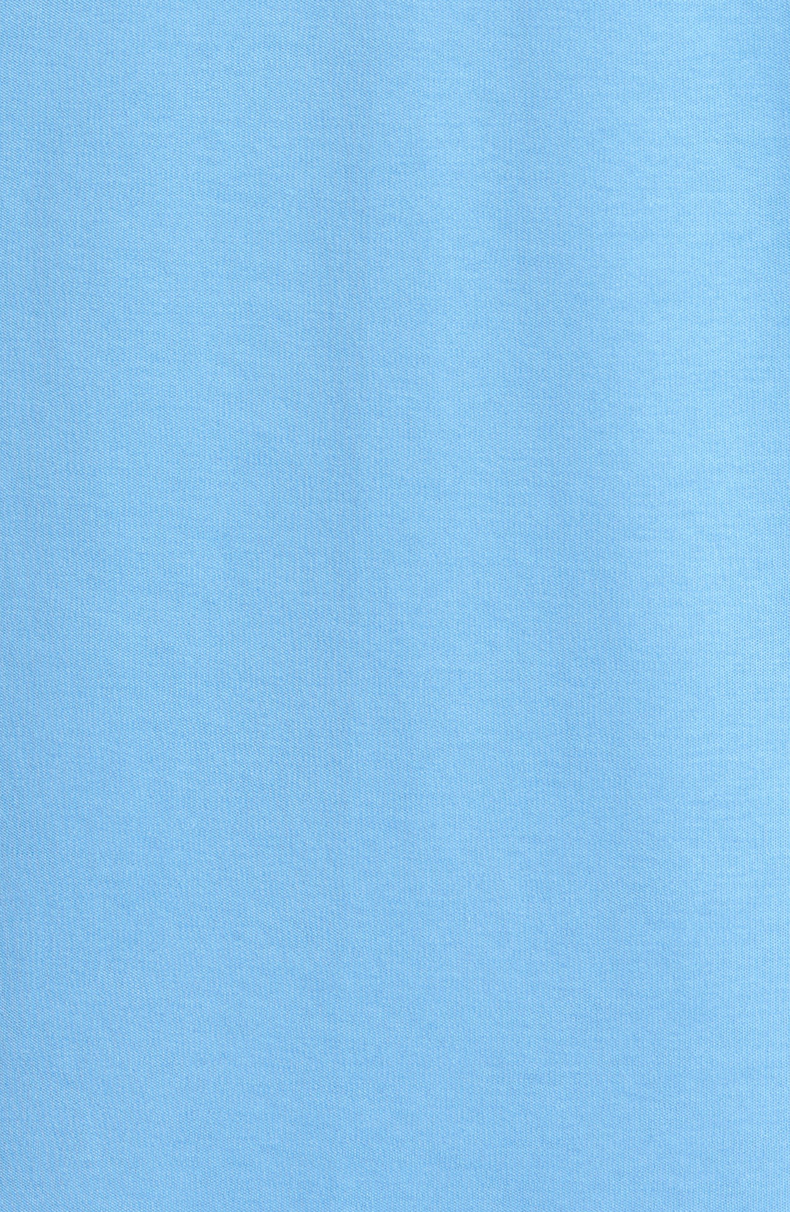 Denim Trim Polo,                             Alternate thumbnail 5, color,                             Light Blue