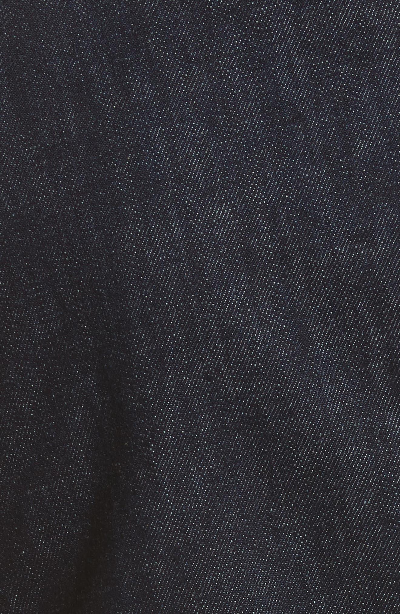 Fit & Flare Denim Dress,                             Alternate thumbnail 5, color,                             Indigo