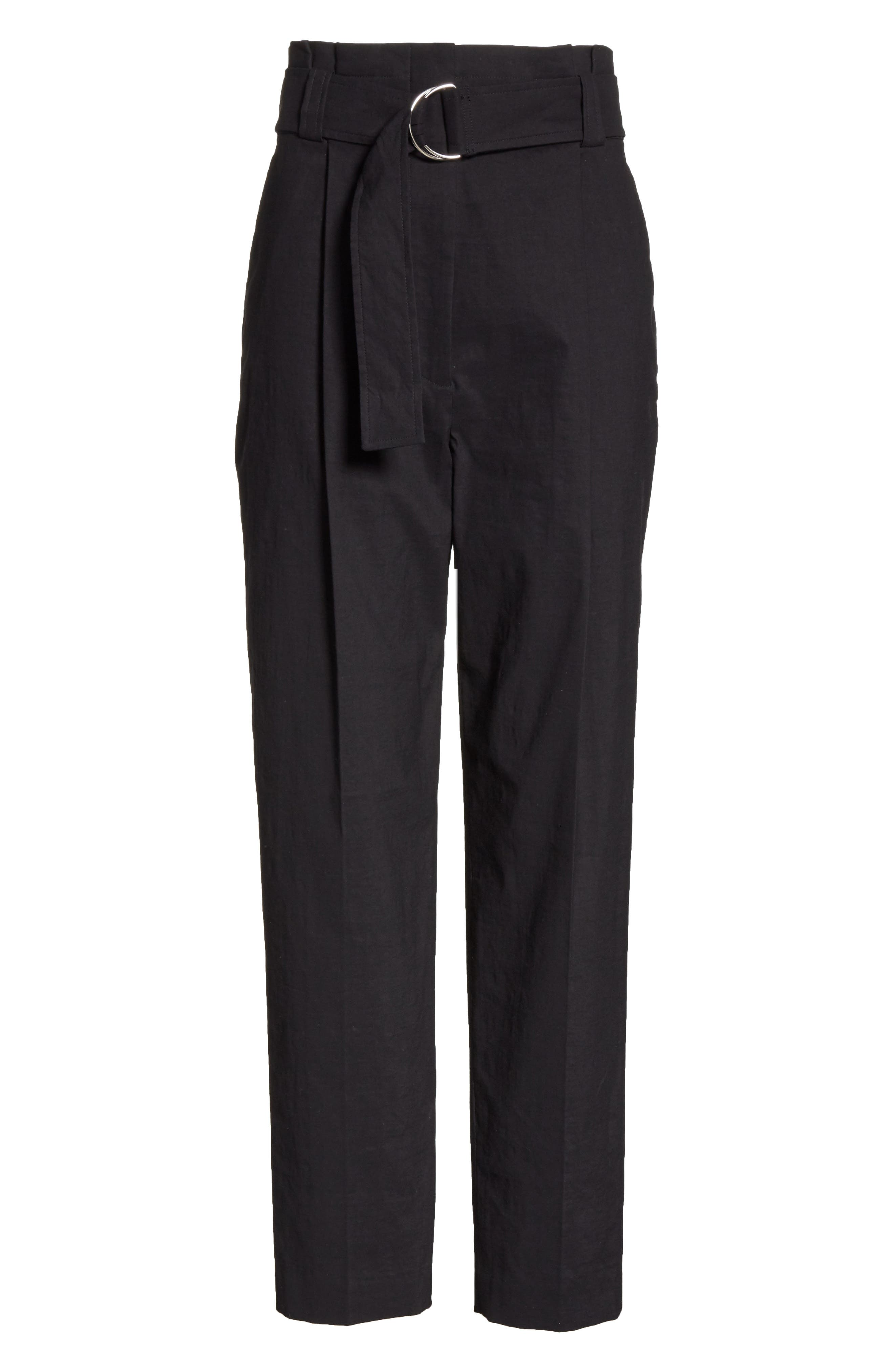 Diego High Waist Pants,                             Alternate thumbnail 6, color,                             Black
