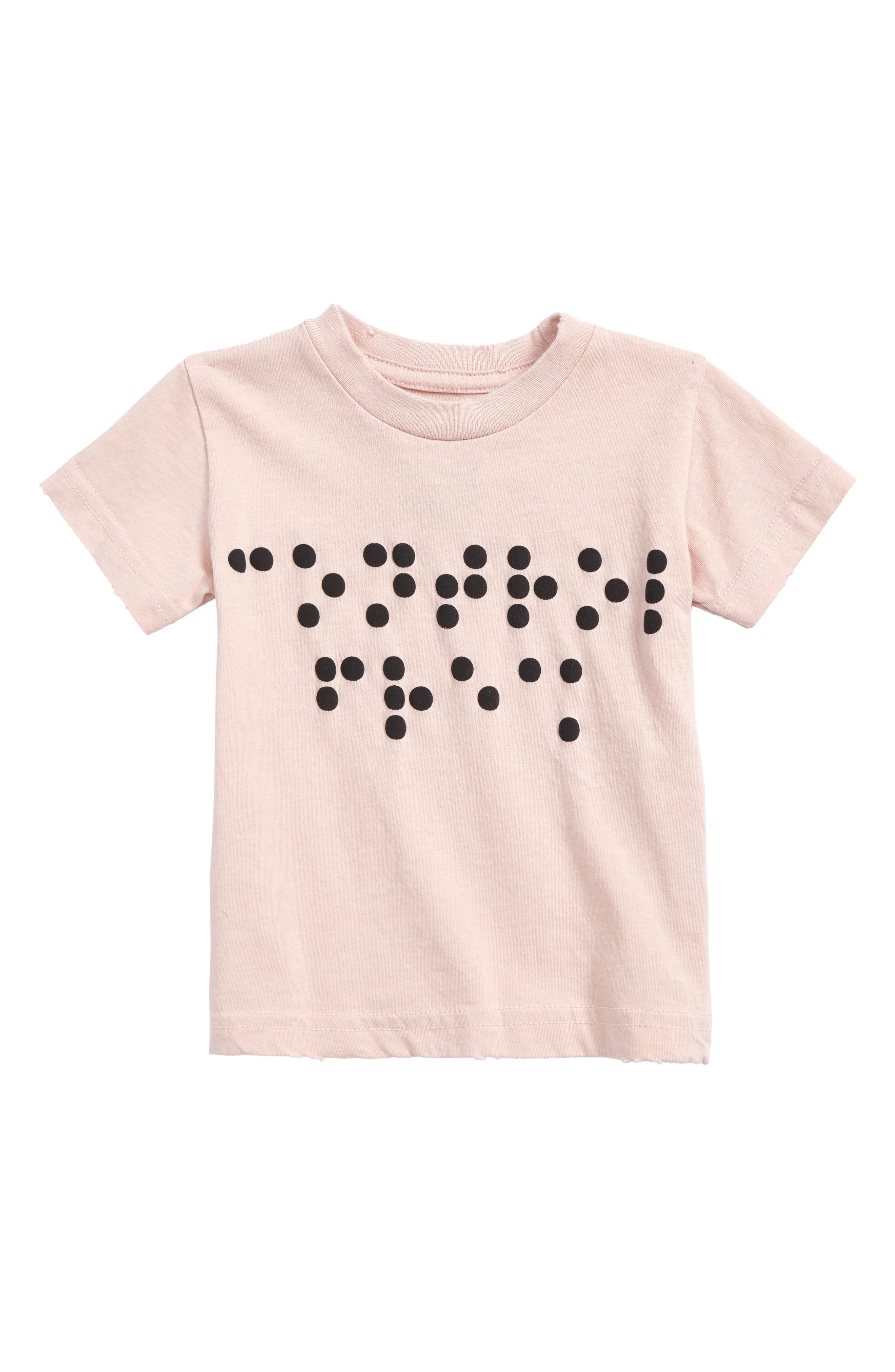 Braille Dot Tee,                         Main,                         color, Powder Pink
