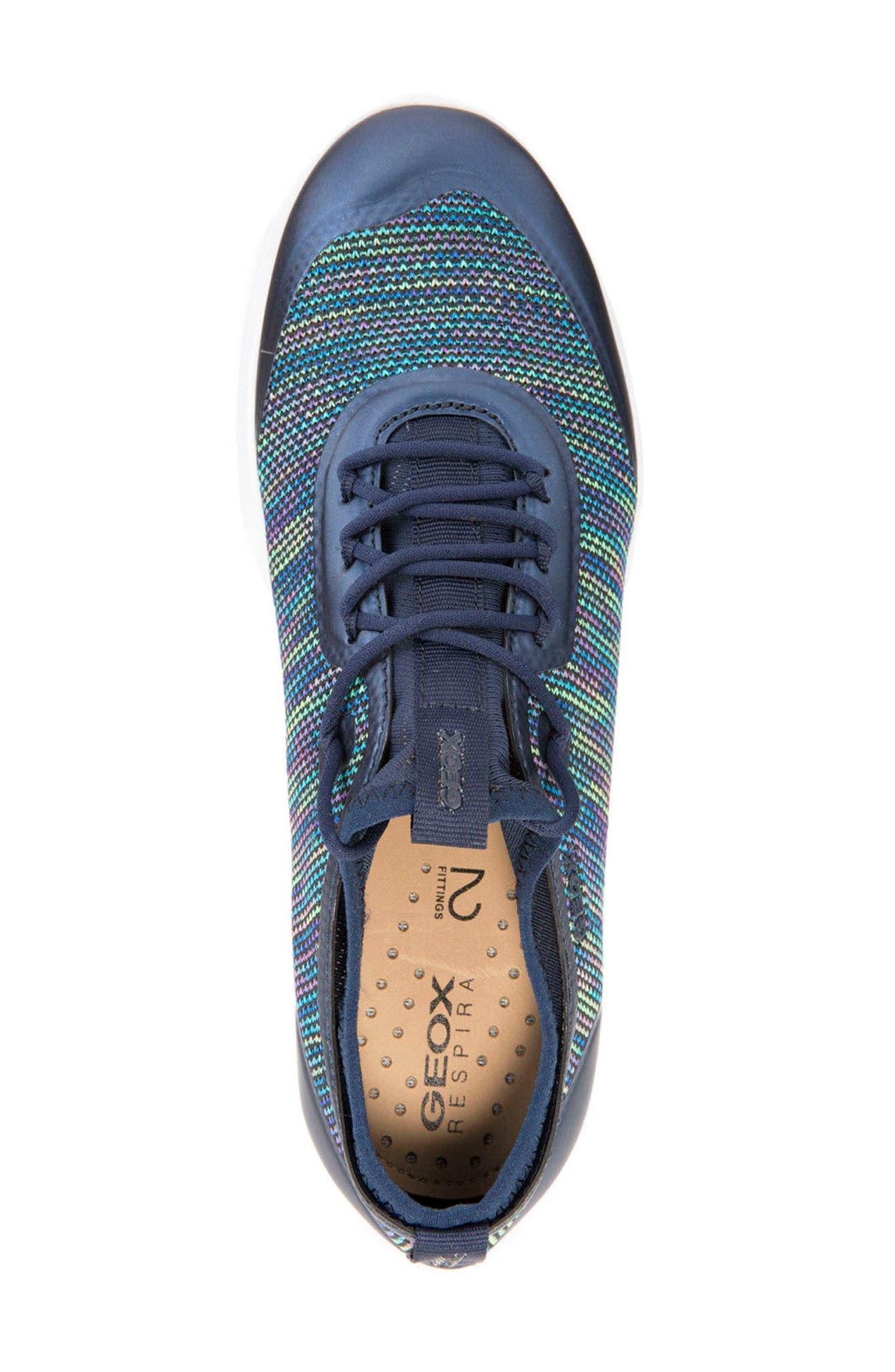 Nebula X Knit Sneaker,                             Alternate thumbnail 4, color,                             Denim Leather