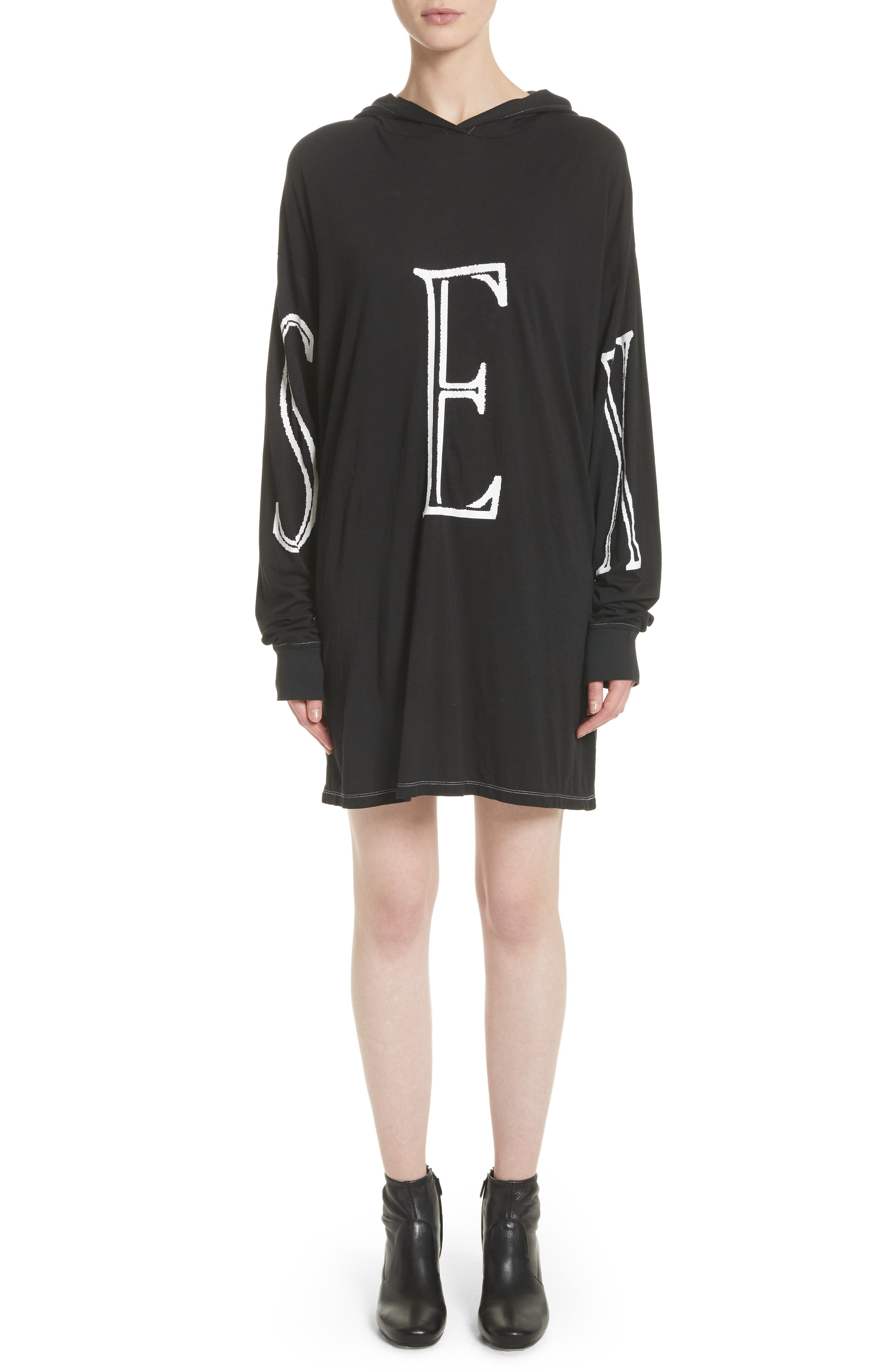 Ashley Williams SEX HOODIE T-SHIRT DRESS
