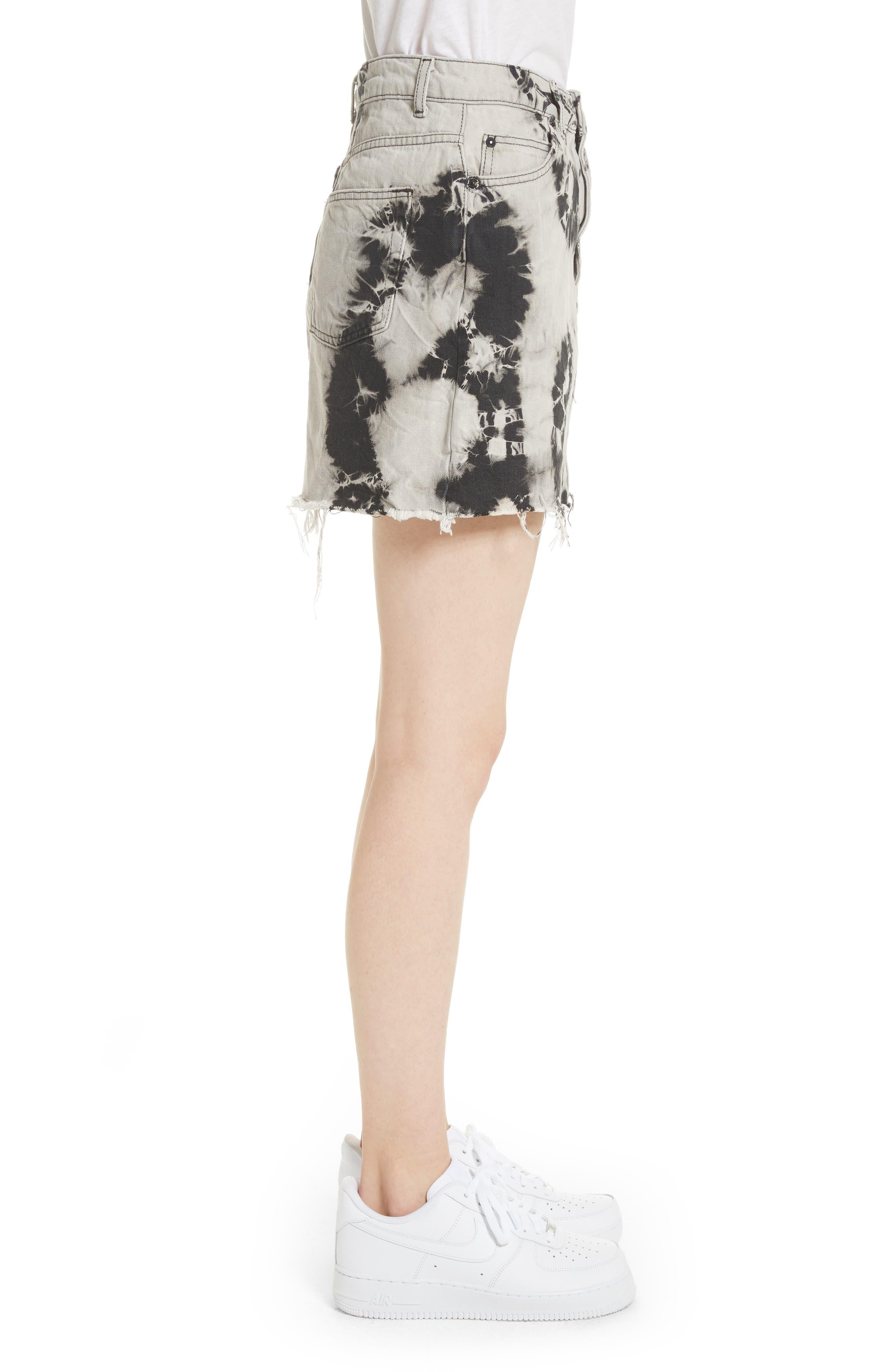 Alternate Image 3  - Ashley Williams Stephanie Tie Dye Denim Miniskirt