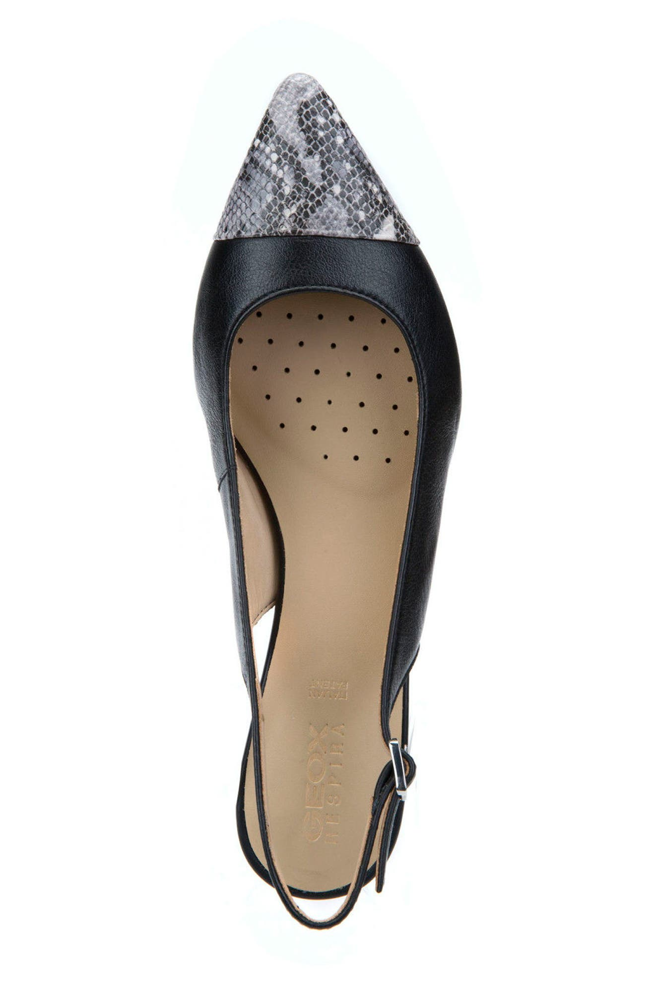 Bibbiana Slingback Pump,                             Alternate thumbnail 4, color,                             Black Leather