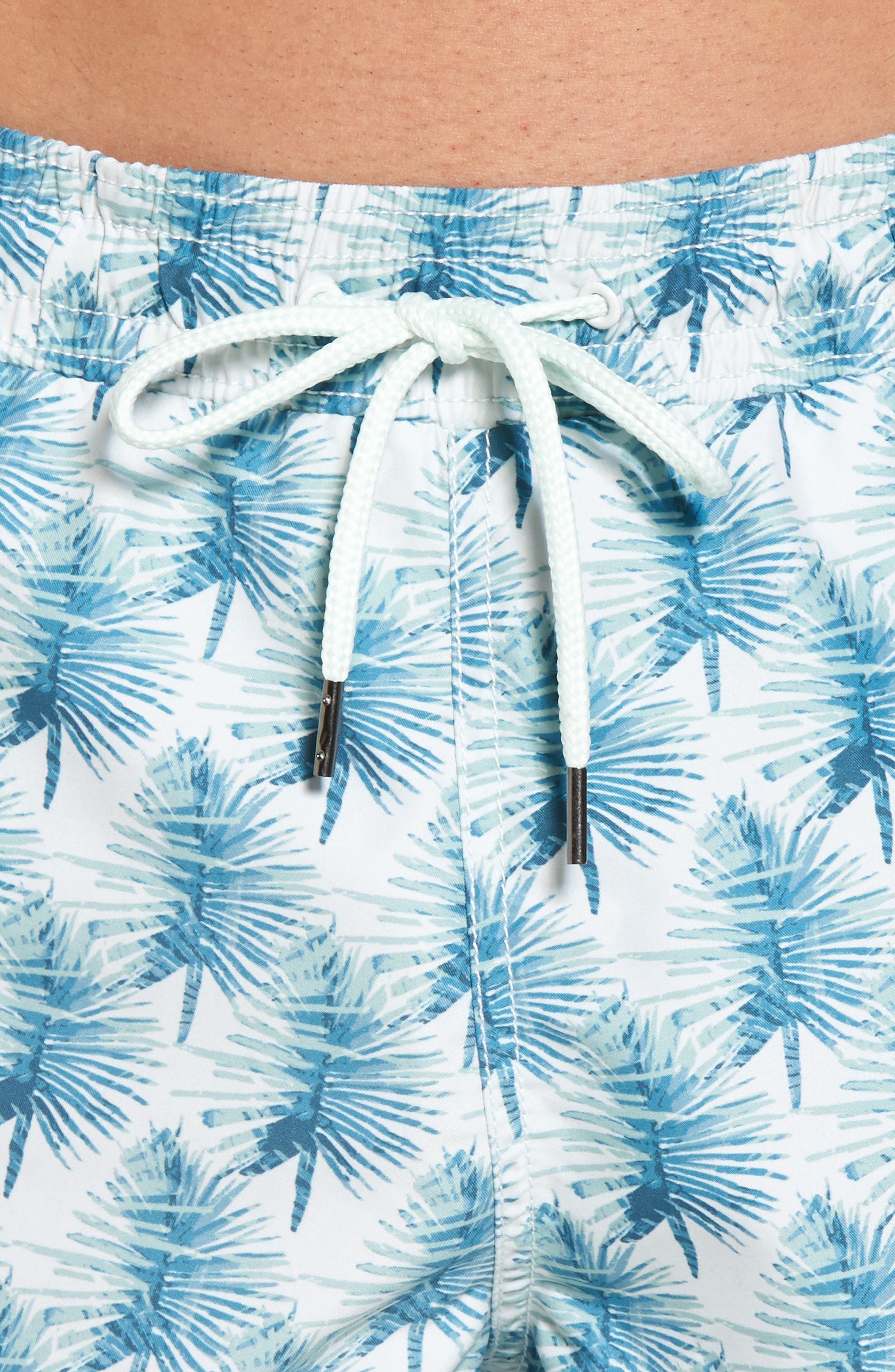 Hand Palm Swim Trunks,                             Alternate thumbnail 4, color,                             Green Light Green