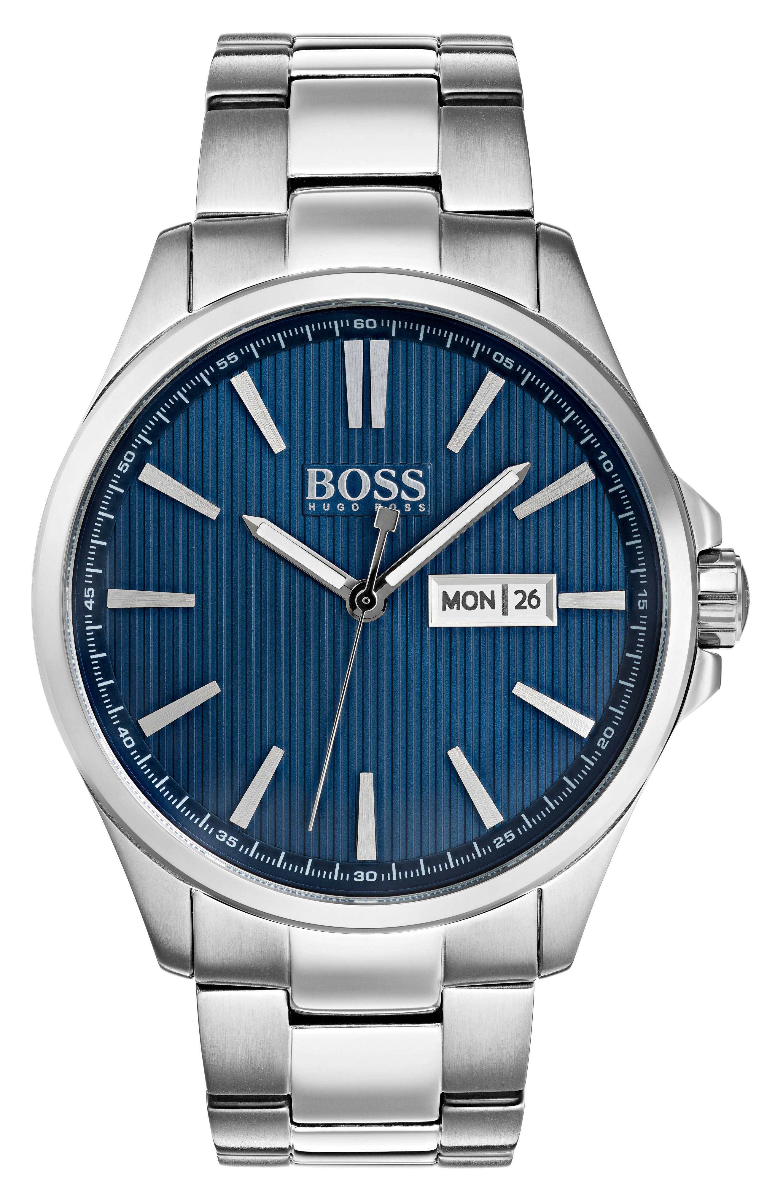 BOSS Round Bracelet Watch, 43.7mm