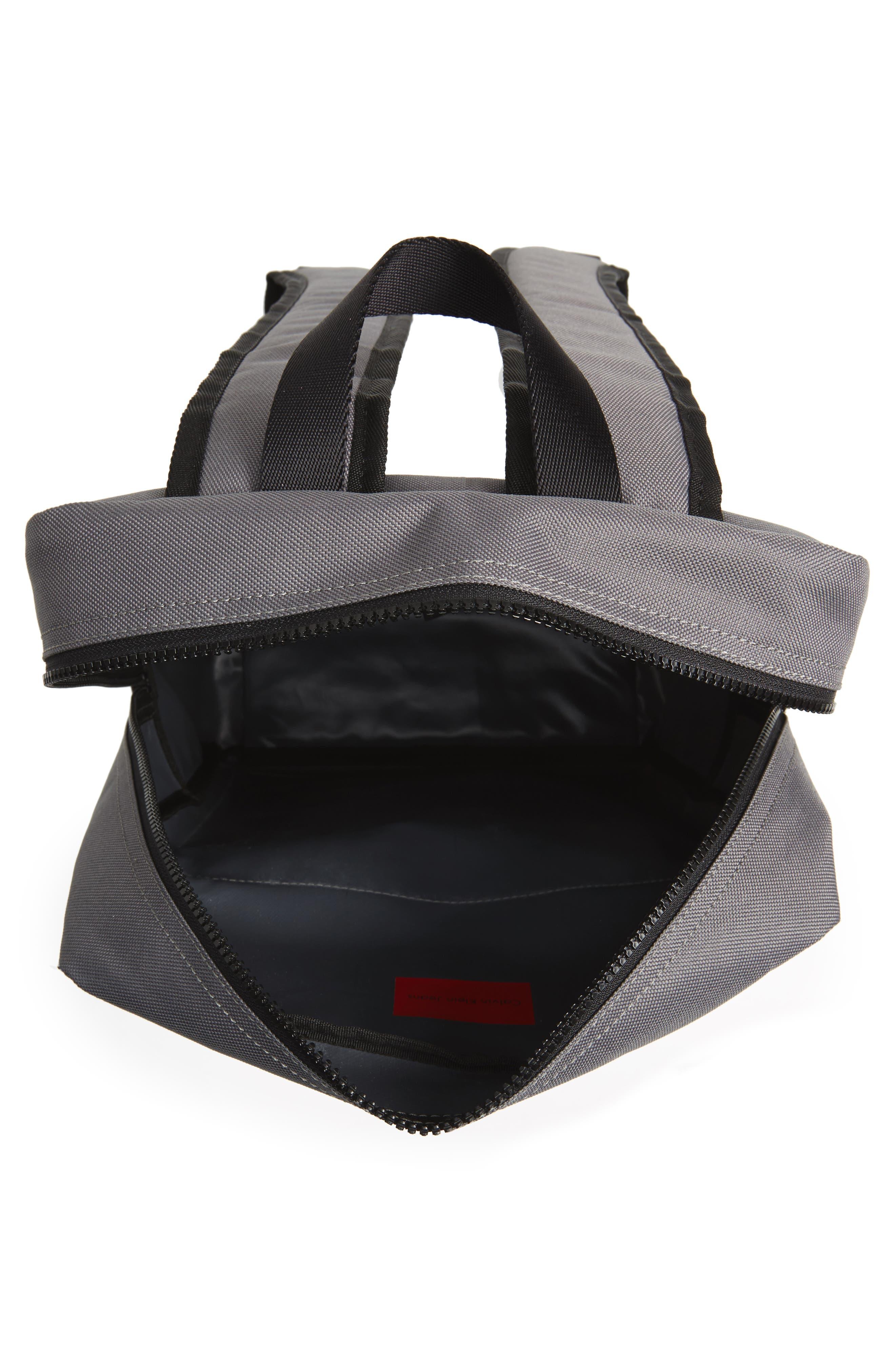 Slim Square Backpack,                             Alternate thumbnail 4, color,                             Charcoal