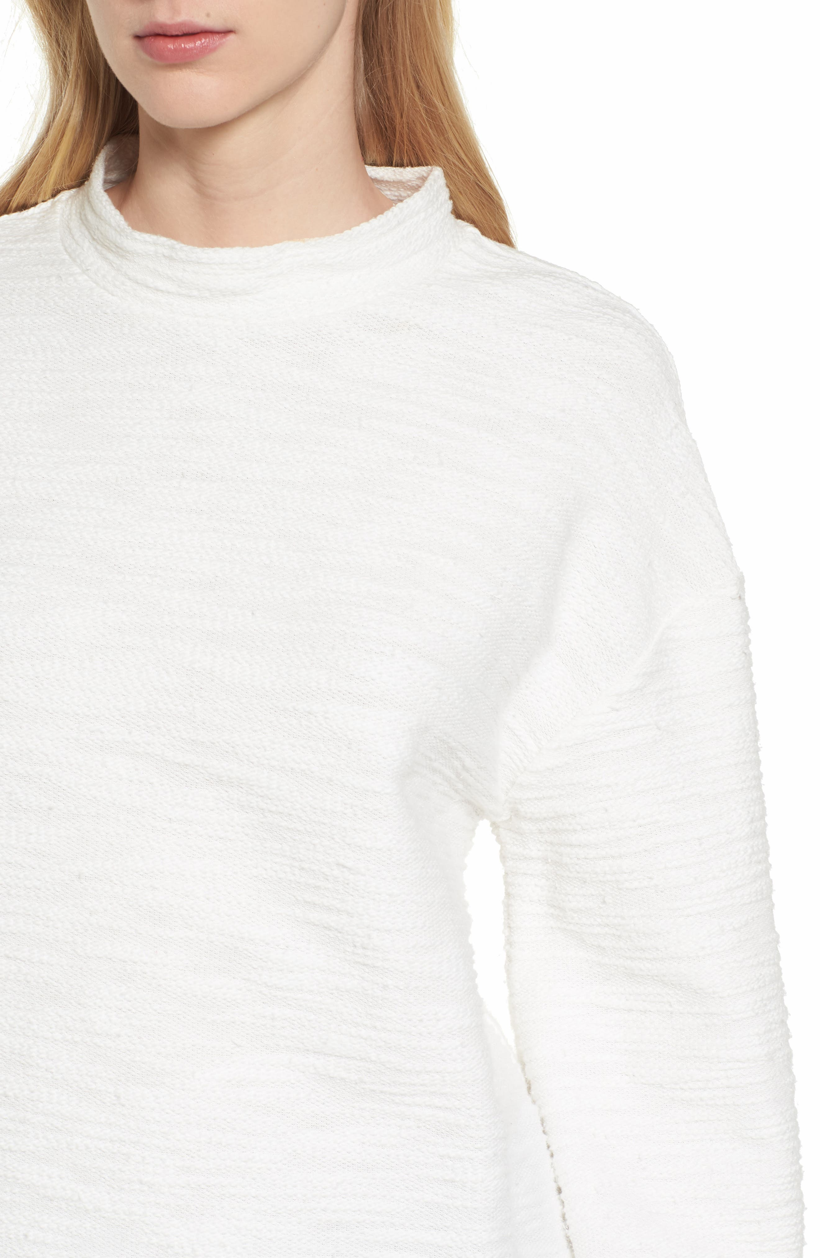 Bishop + Young No Sweat Pullover,                             Alternate thumbnail 4, color,                             Ivory