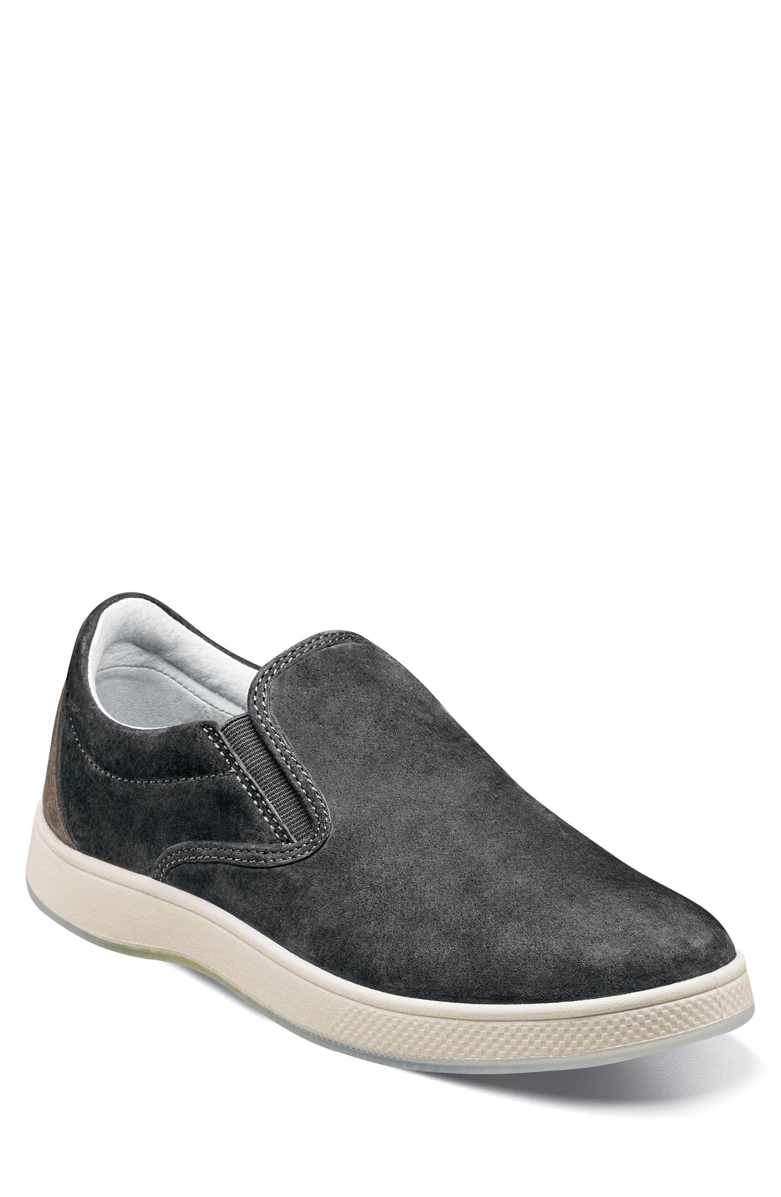 Edge Slip-On Sneaker,                             Main thumbnail 1, color,                             Charcoal Nubuck