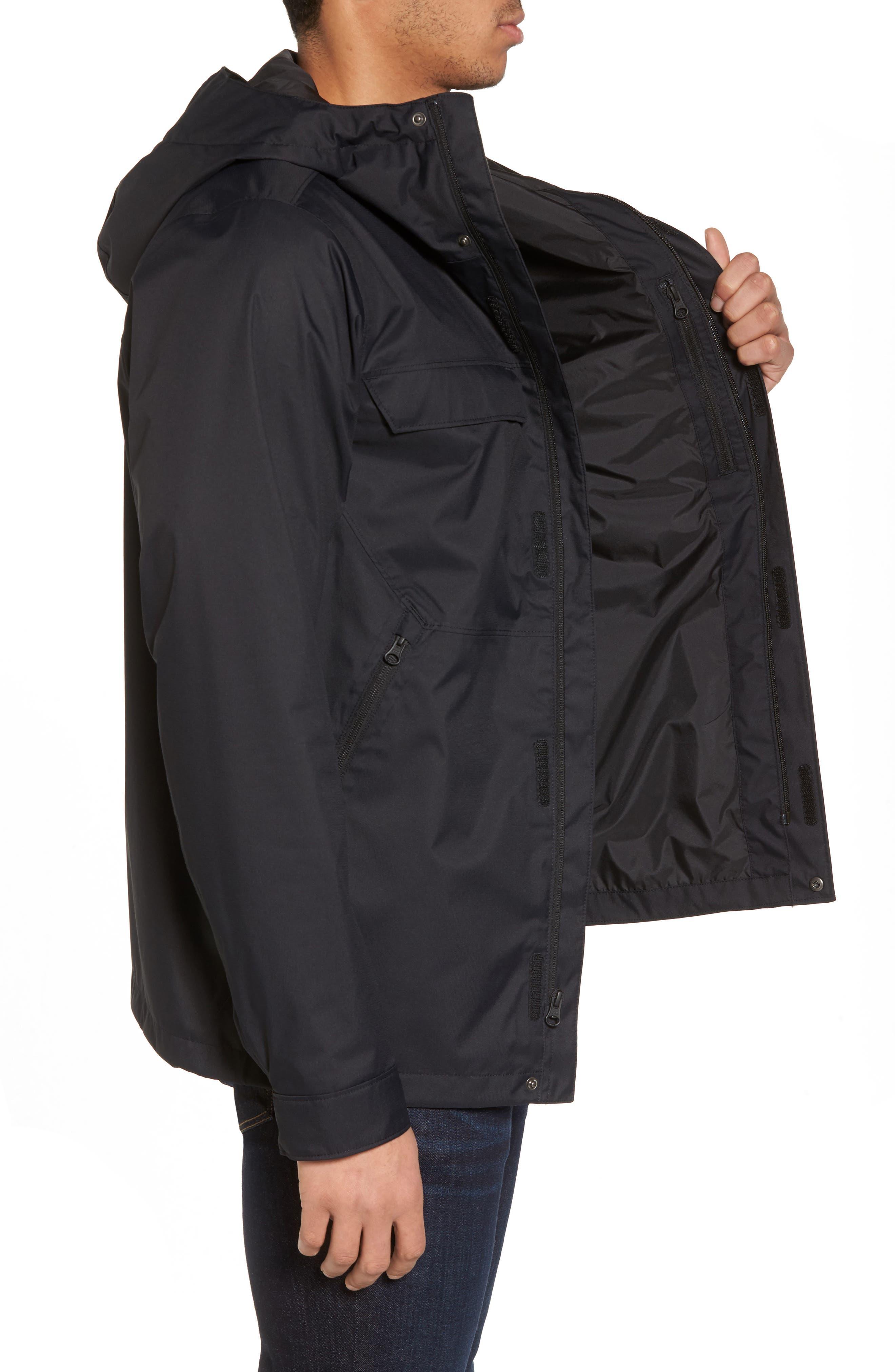 Jenison II Insulated Waterproof Jacket,                             Alternate thumbnail 3, color,                             Tnf Black
