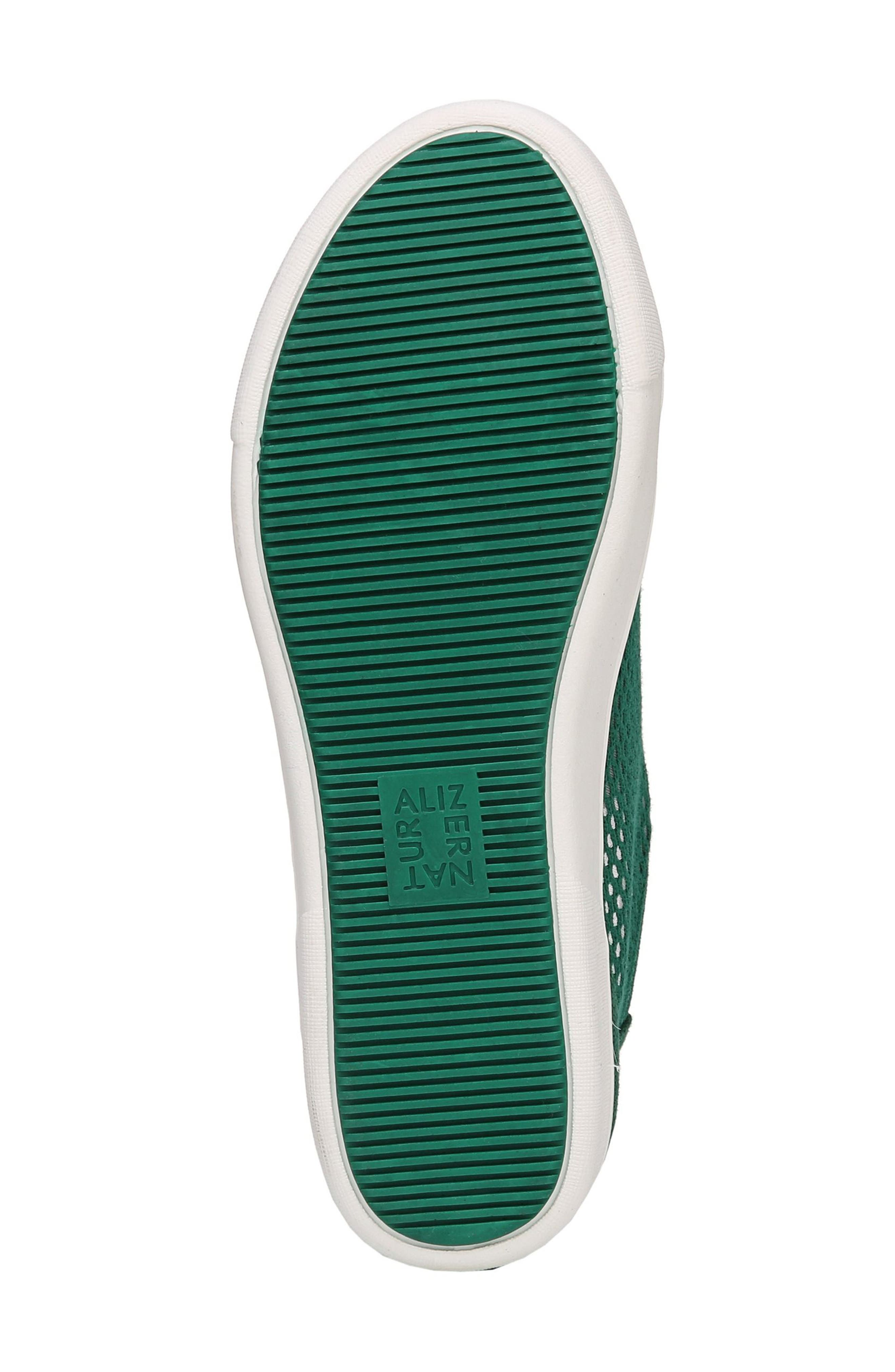 Morrison III Perforated Sneaker,                             Alternate thumbnail 6, color,                             Green Leather