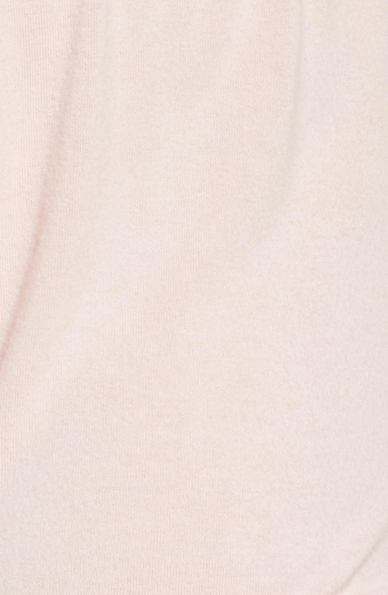 Ruffle Lounge Shorts,                             Alternate thumbnail 7, color,                             Blush
