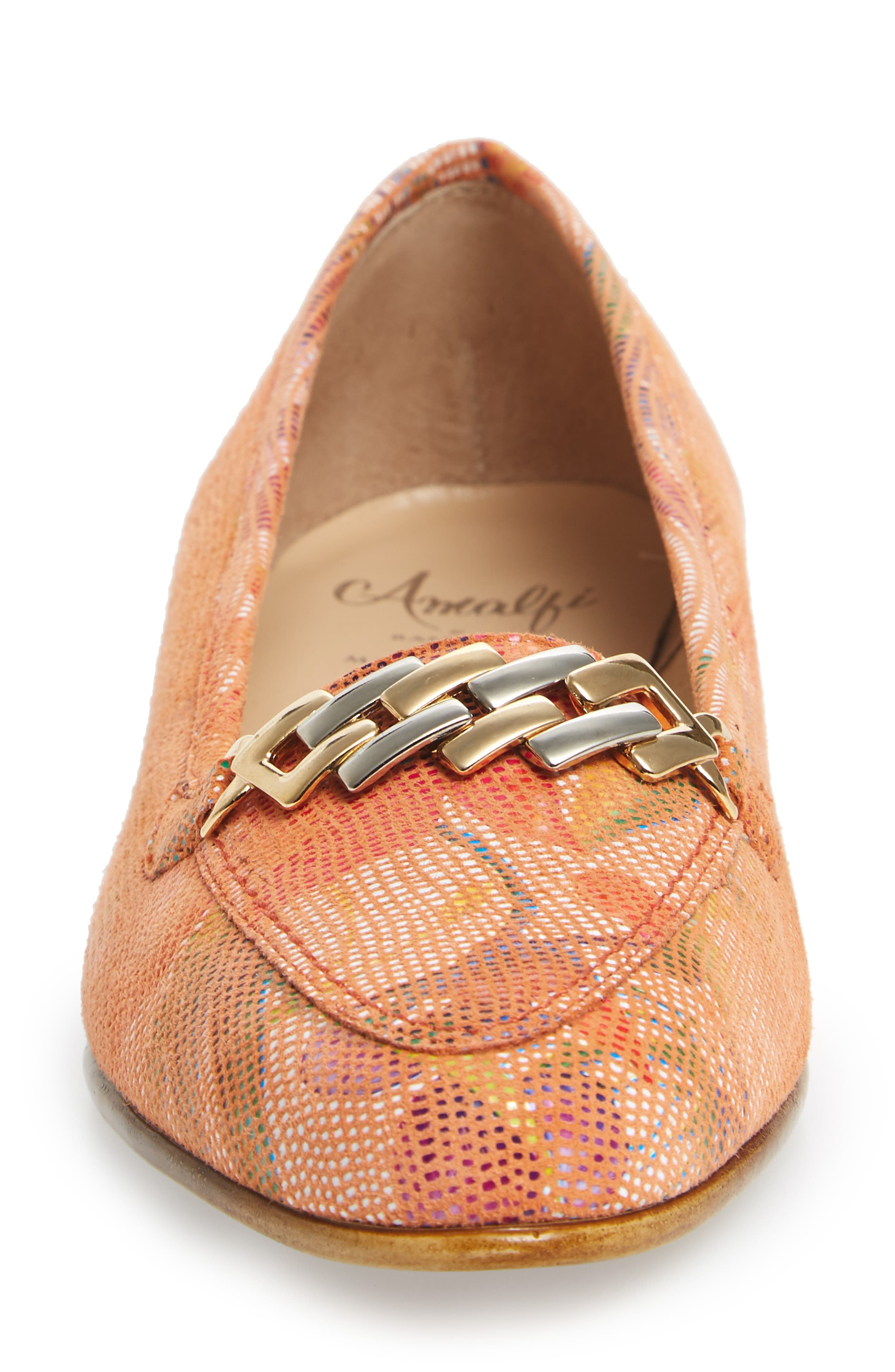 Oste Loafer,                             Alternate thumbnail 5, color,                             Salmon Leather