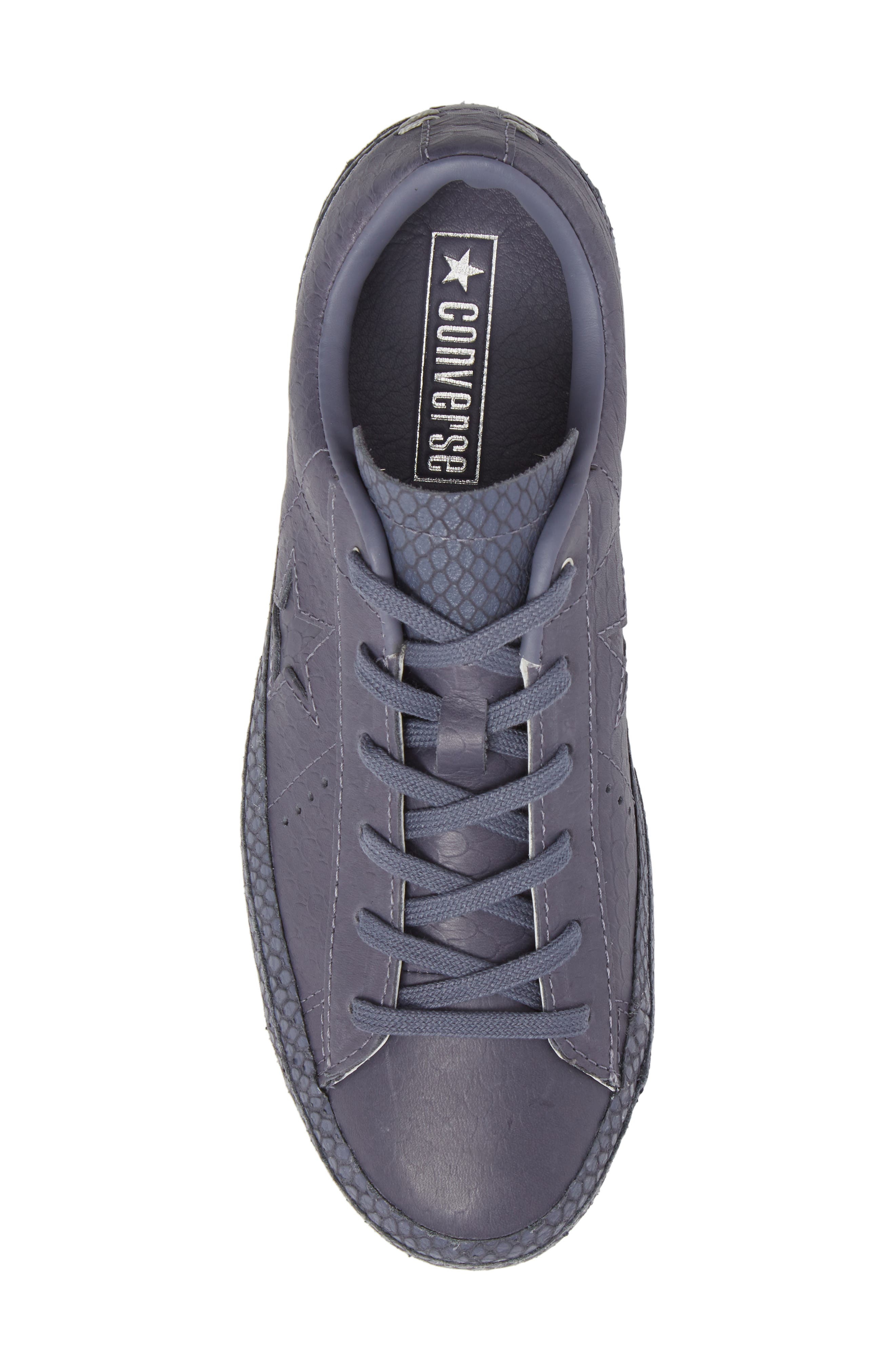 Chuck Taylor<sup>®</sup> All Star<sup>®</sup> One Star Platform Sneaker,                             Alternate thumbnail 5, color,                             Light Carbon