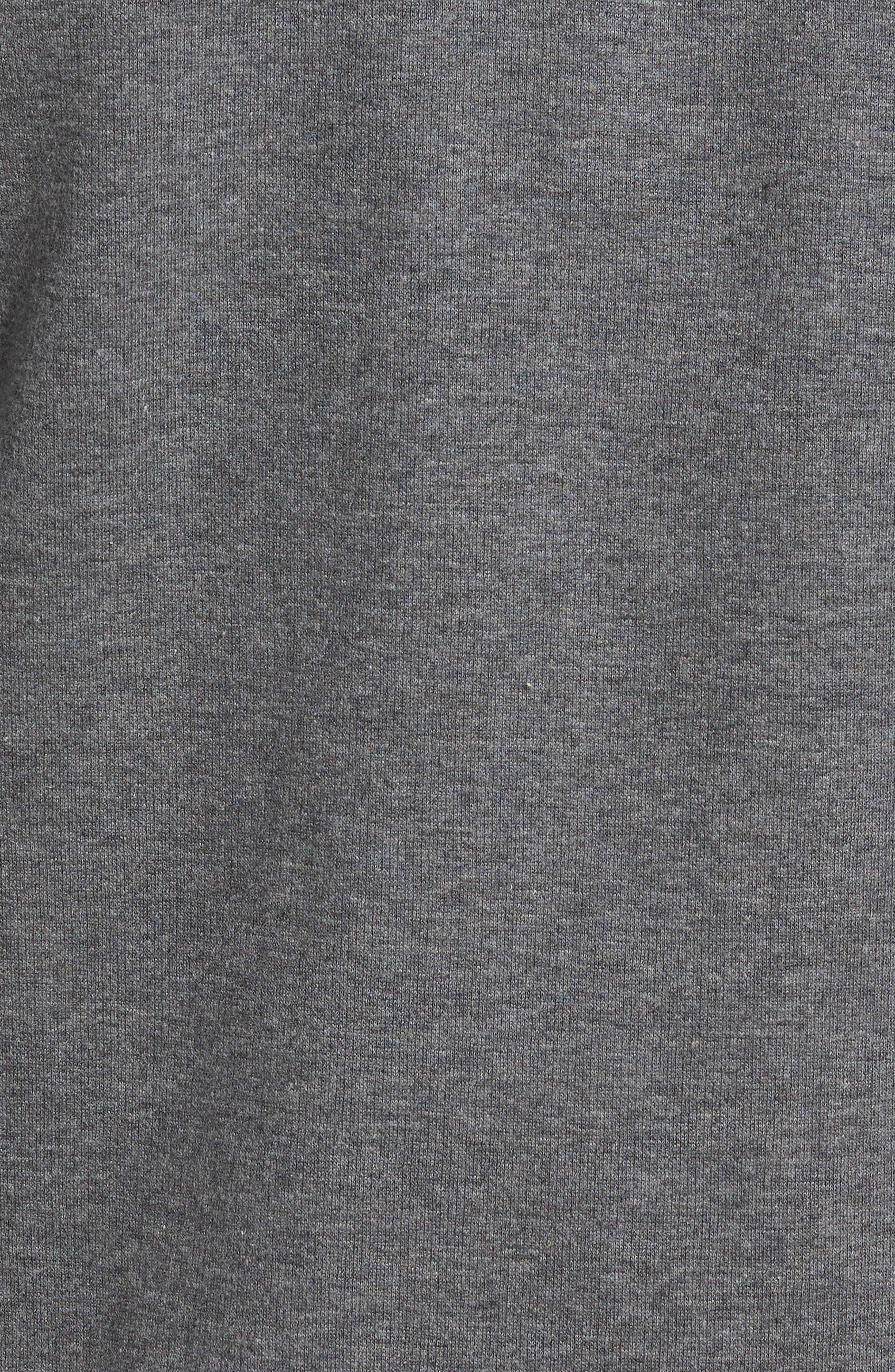 Full Zip Fleece Jacket,                             Alternate thumbnail 5, color,                             Charcoal Heather