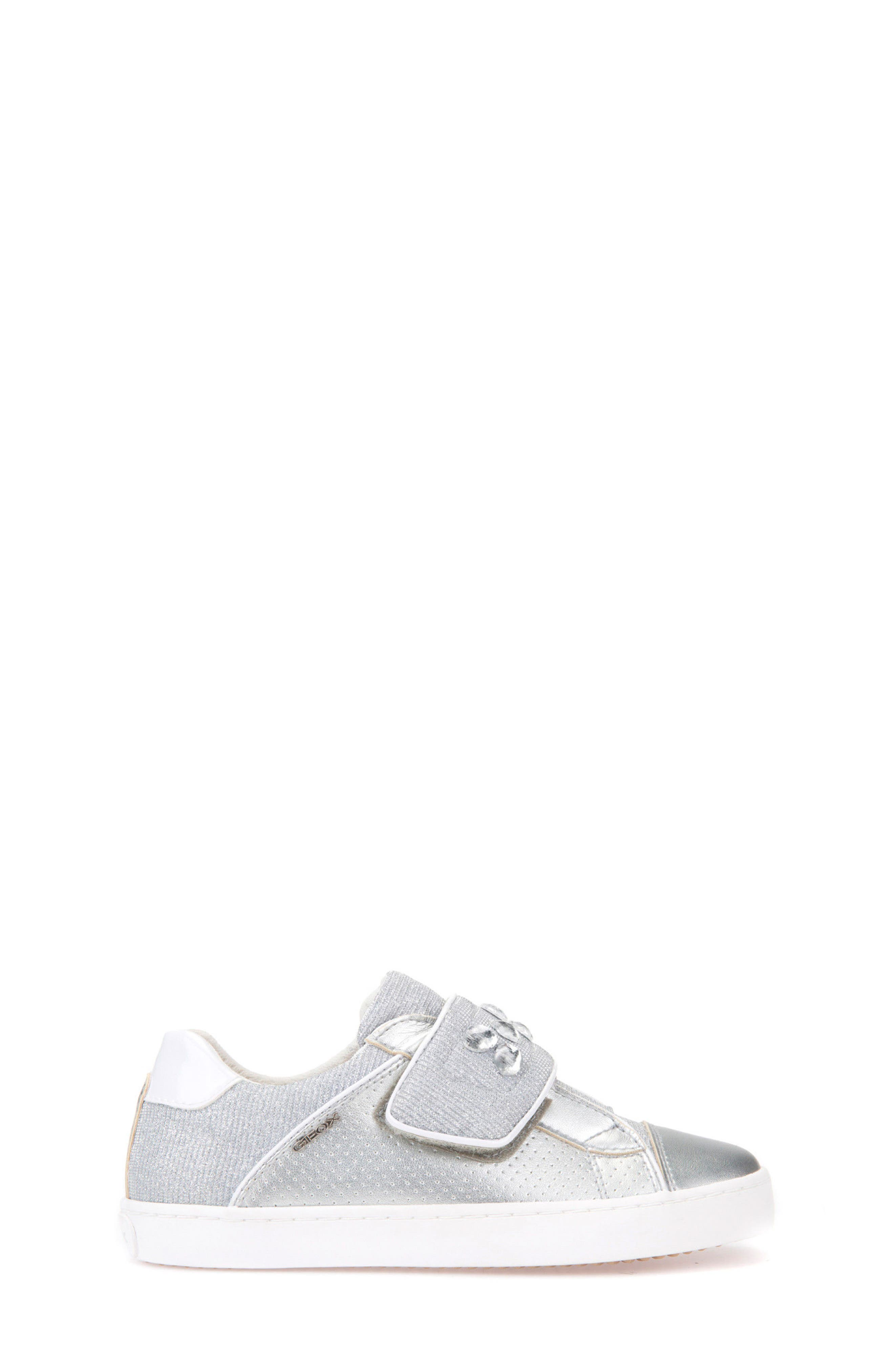 Kilwi Metallic Embellished Sneaker,                             Alternate thumbnail 3, color,                             Silver
