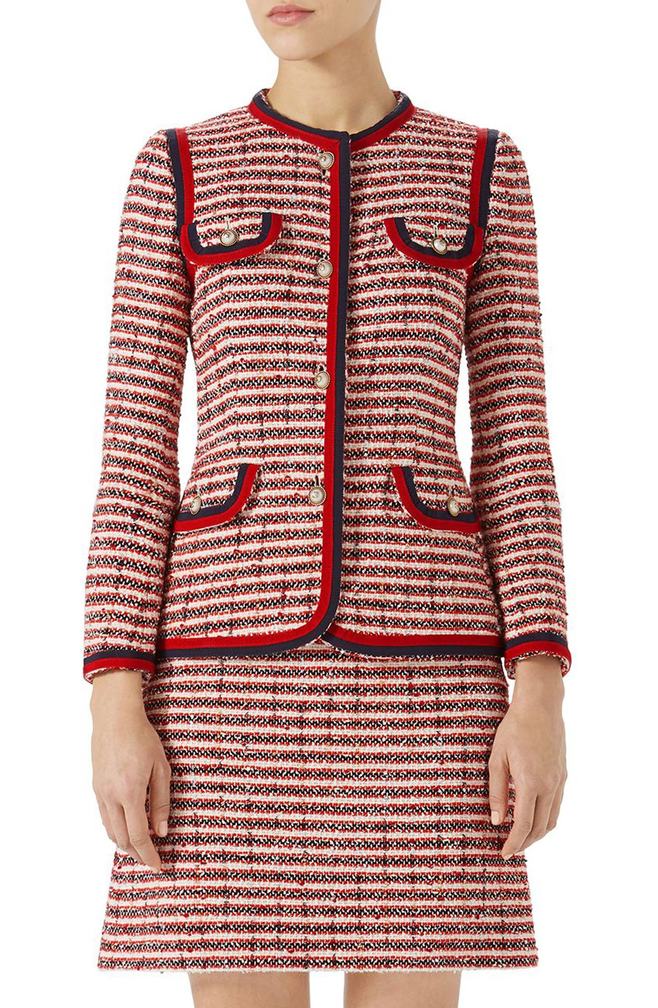 Gucci Stripe Tweed Jacket