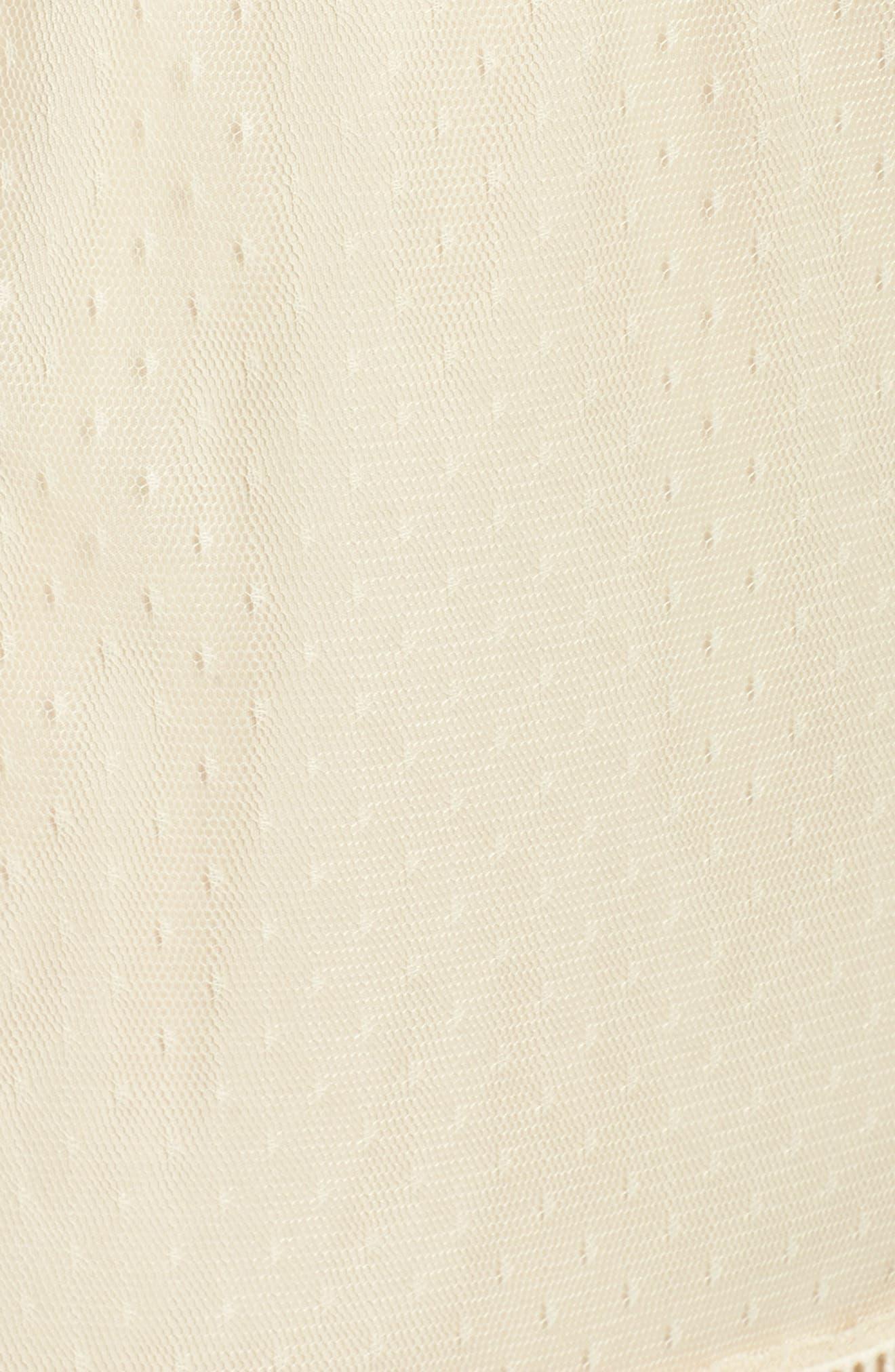 Ruffle Sheer Hem Maxi Dress,                             Alternate thumbnail 5, color,                             Cream