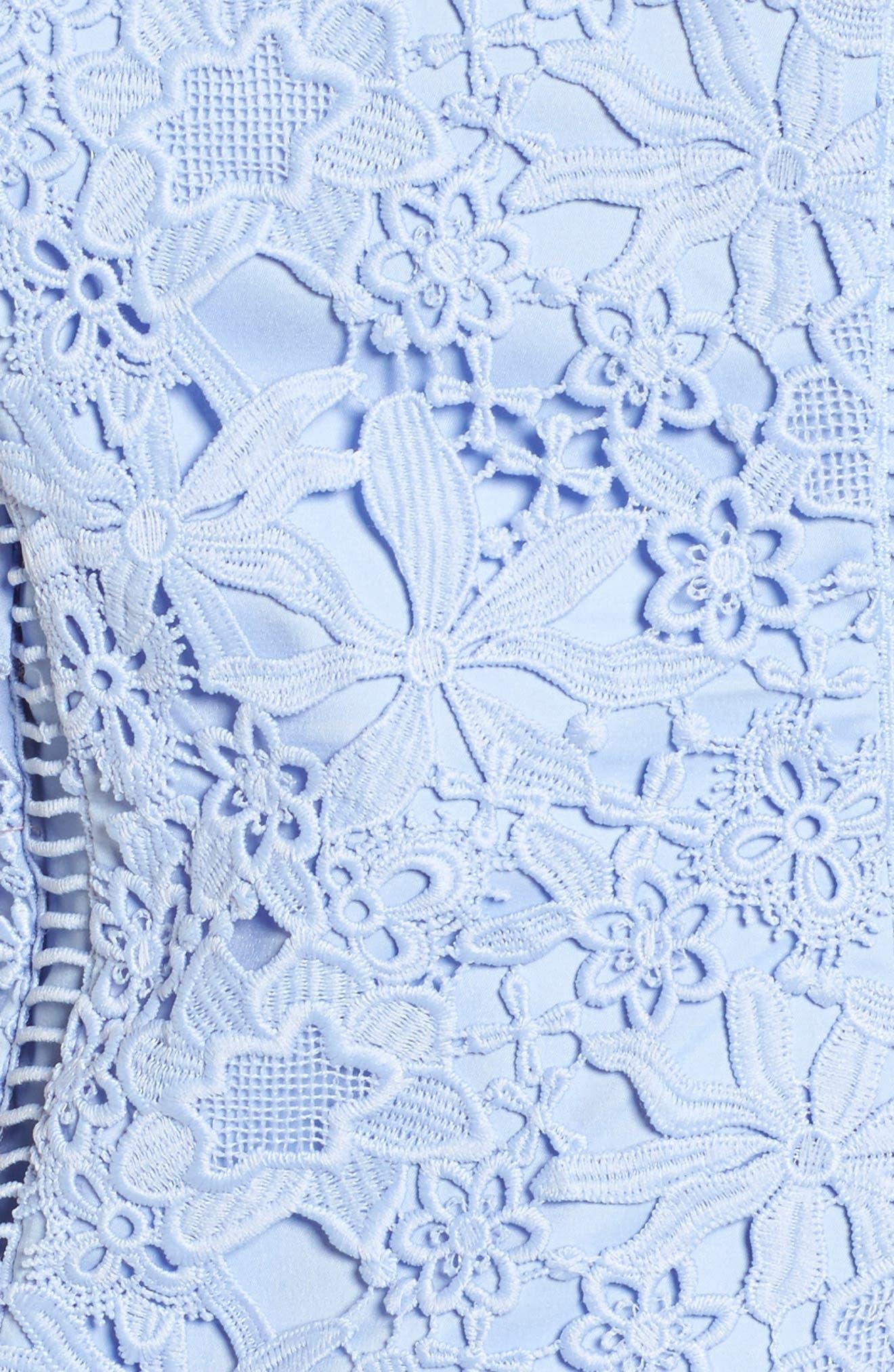 Bennett Lace Minidress,                             Alternate thumbnail 5, color,                             Lilac Breeze