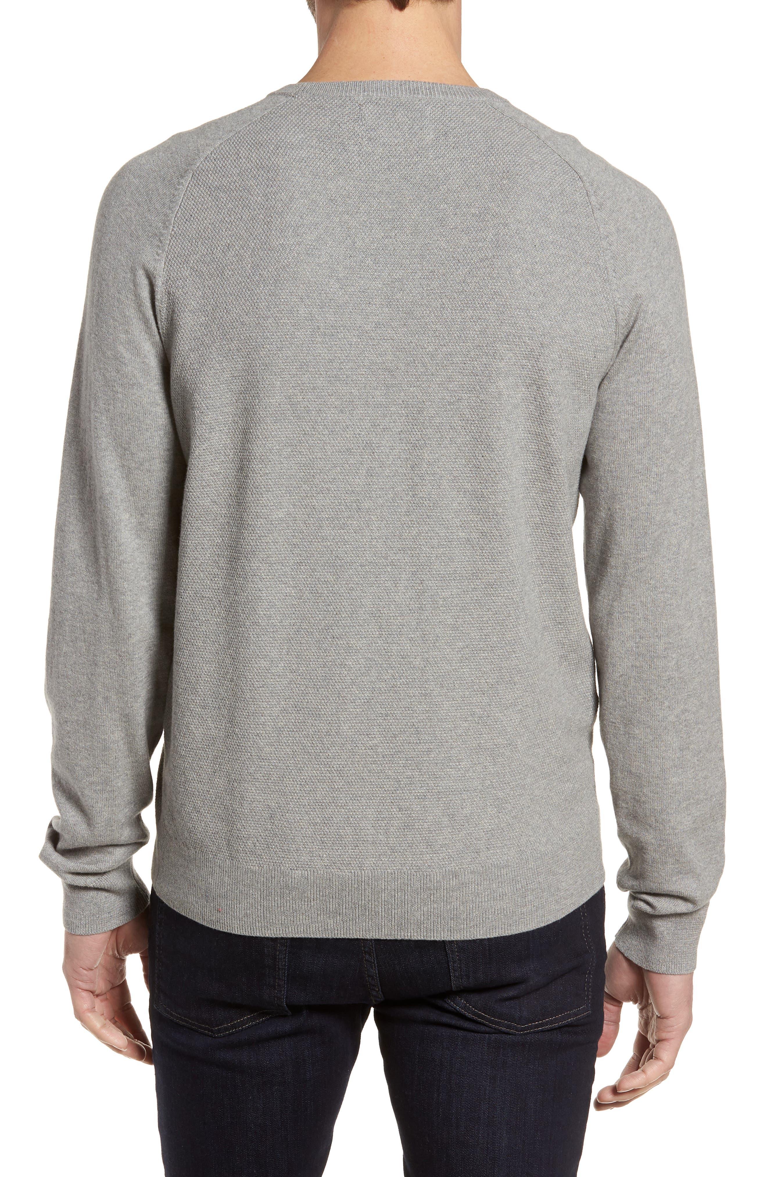 Crewneck Cotton & Cashmere Sweater,                             Alternate thumbnail 2, color,                             Grey Medium Heather