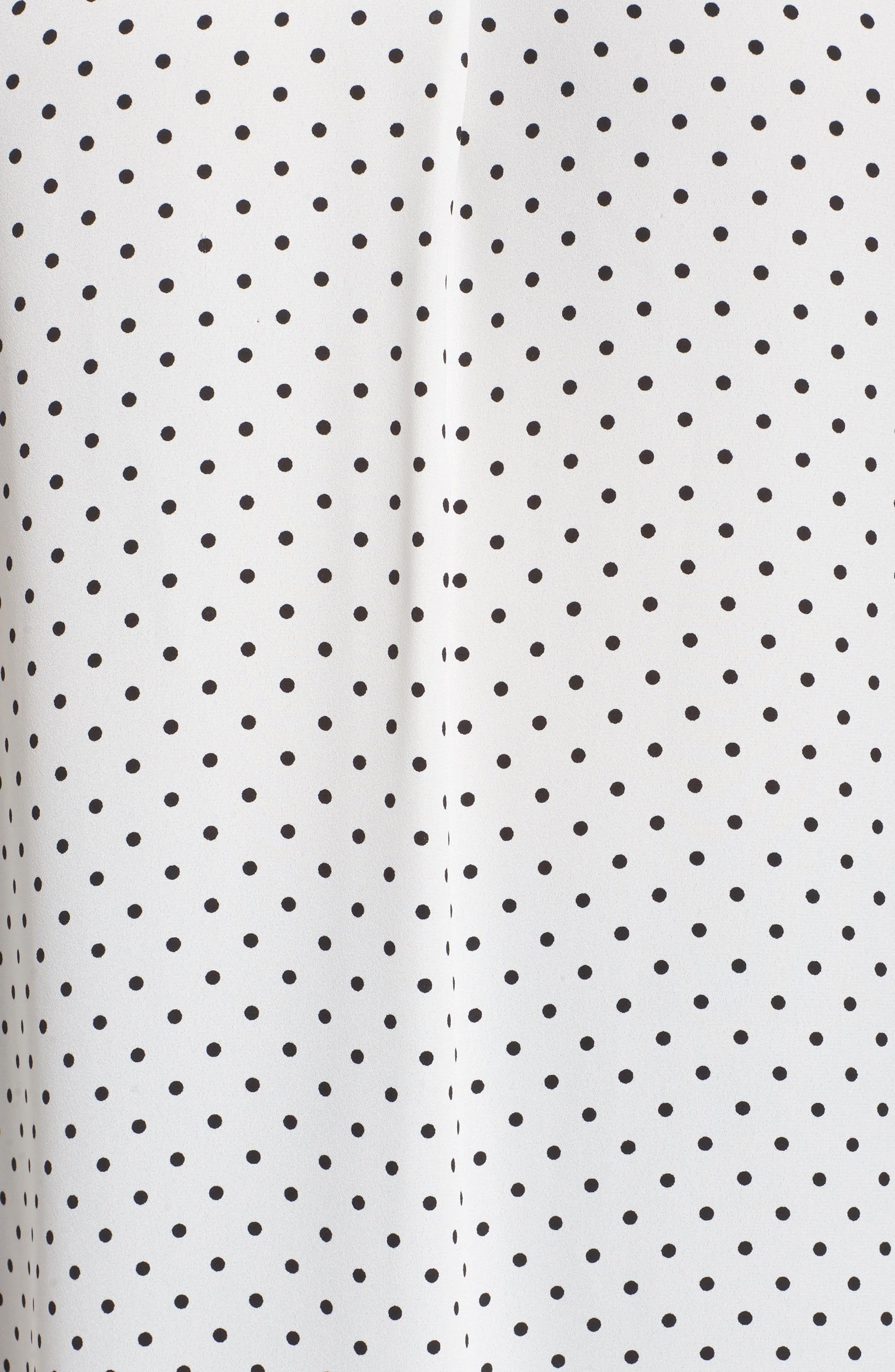 Poetic Dots Sleeveless V-Neck Blouse,                             Alternate thumbnail 5, color,                             New Ivory