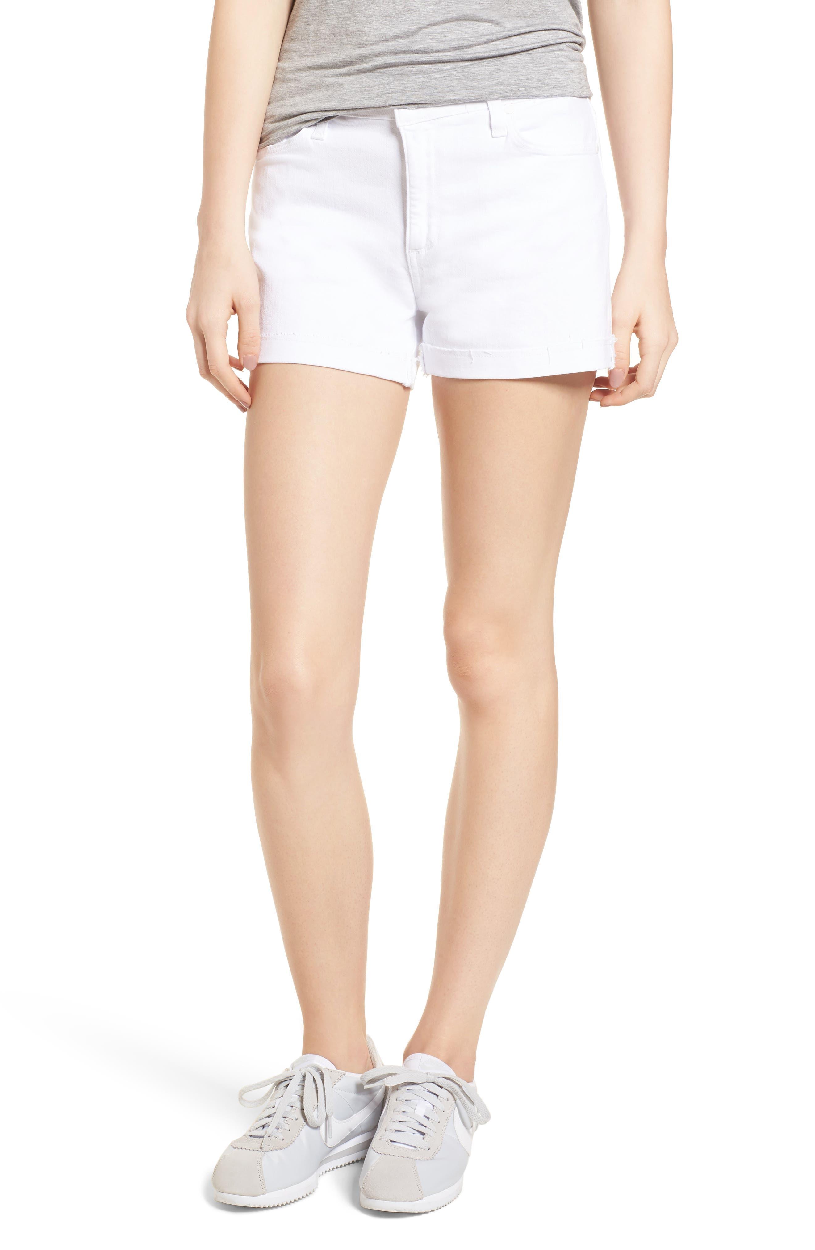 Jimmy Jimmy High Waist Denim Shorts,                             Main thumbnail 1, color,                             Crisp White