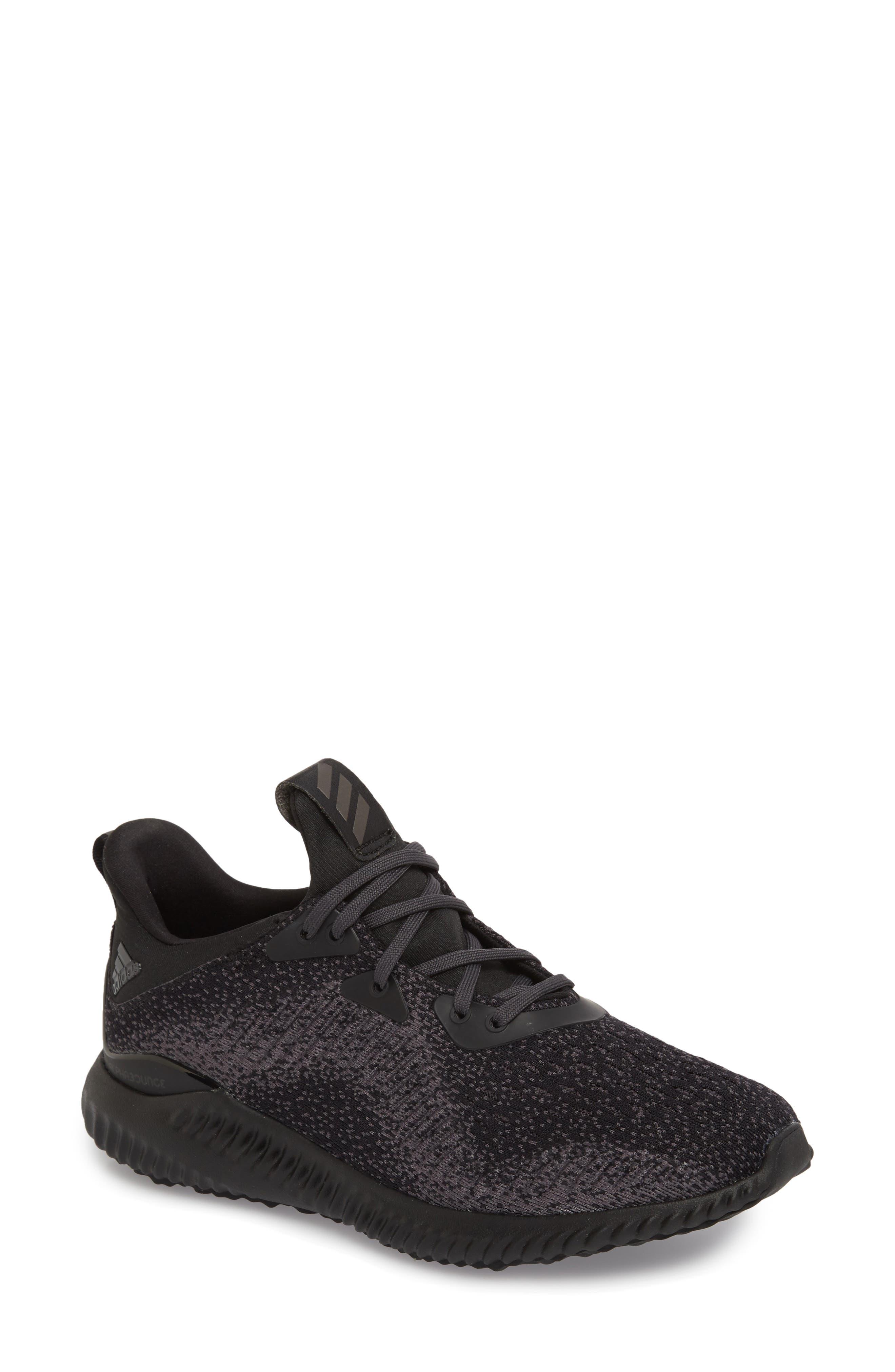 AlphaBounce EM Running Shoe,                             Main thumbnail 1, color,                             Core Black/ Trace Grey/ Carbon