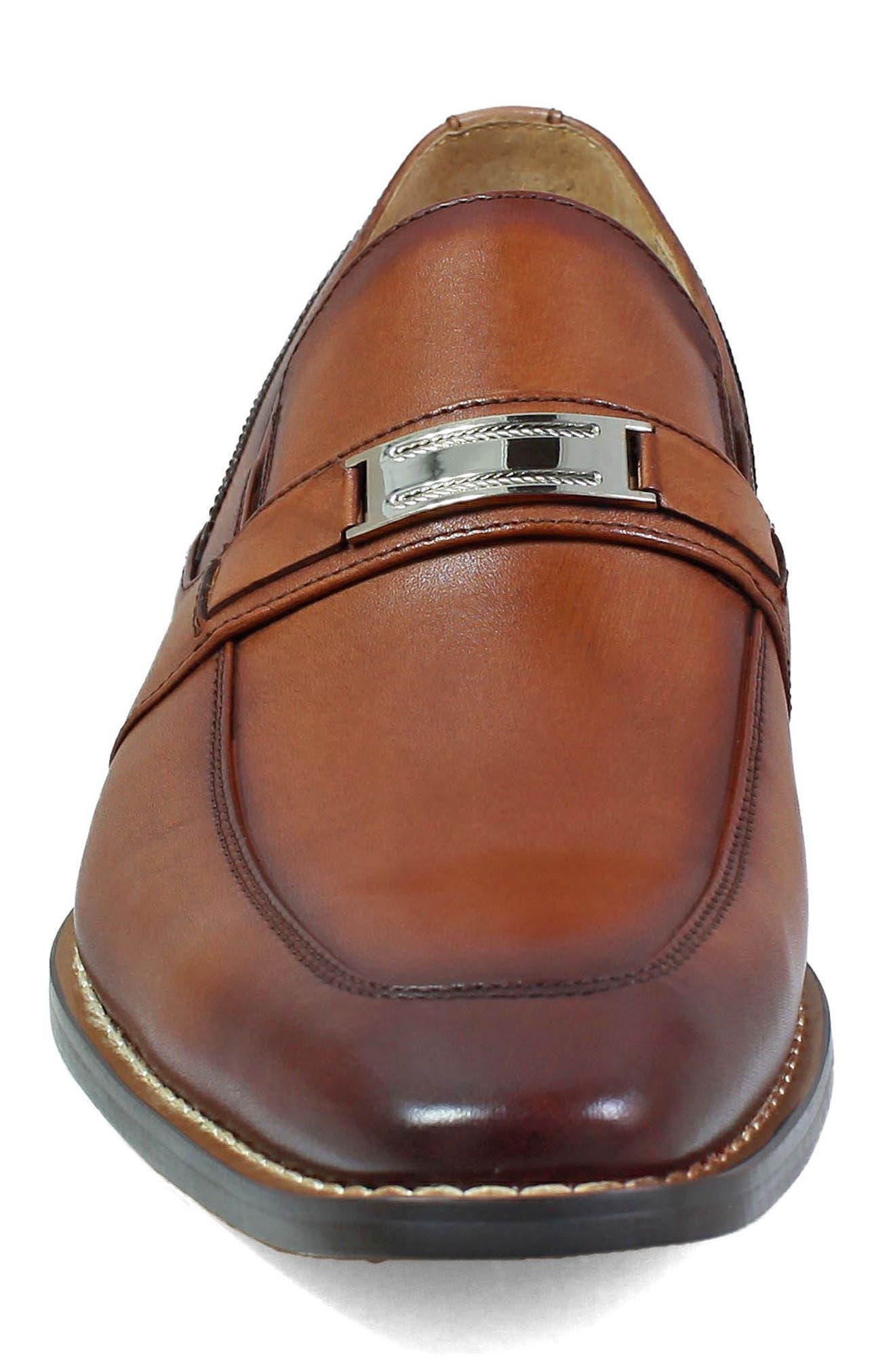 Shaw Bit Loafer,                             Alternate thumbnail 4, color,                             Cognac Leather