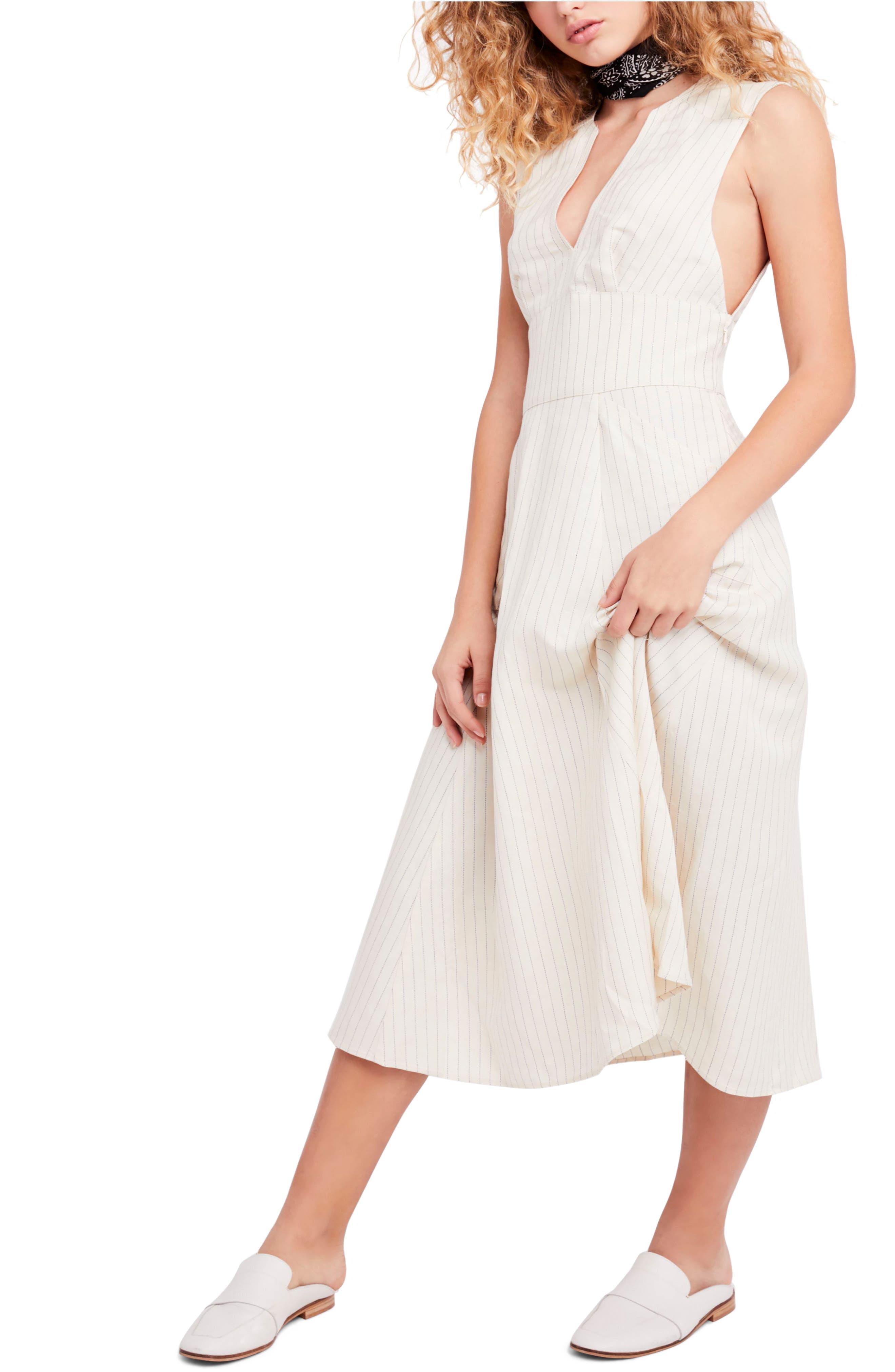 Pretty Daze Midi Dress,                             Main thumbnail 1, color,                             Ivory Combo