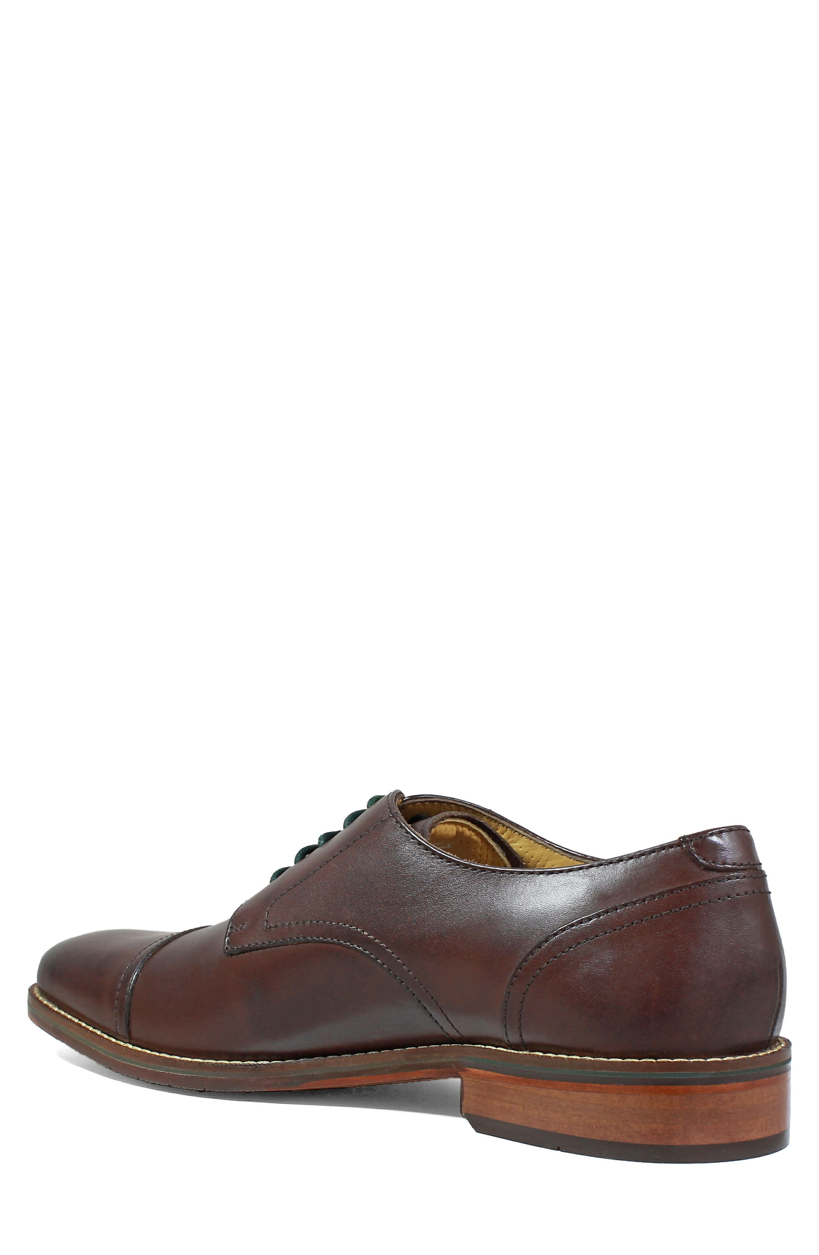Salerno Cap Toe Derby,                             Alternate thumbnail 2, color,                             Brown Leather