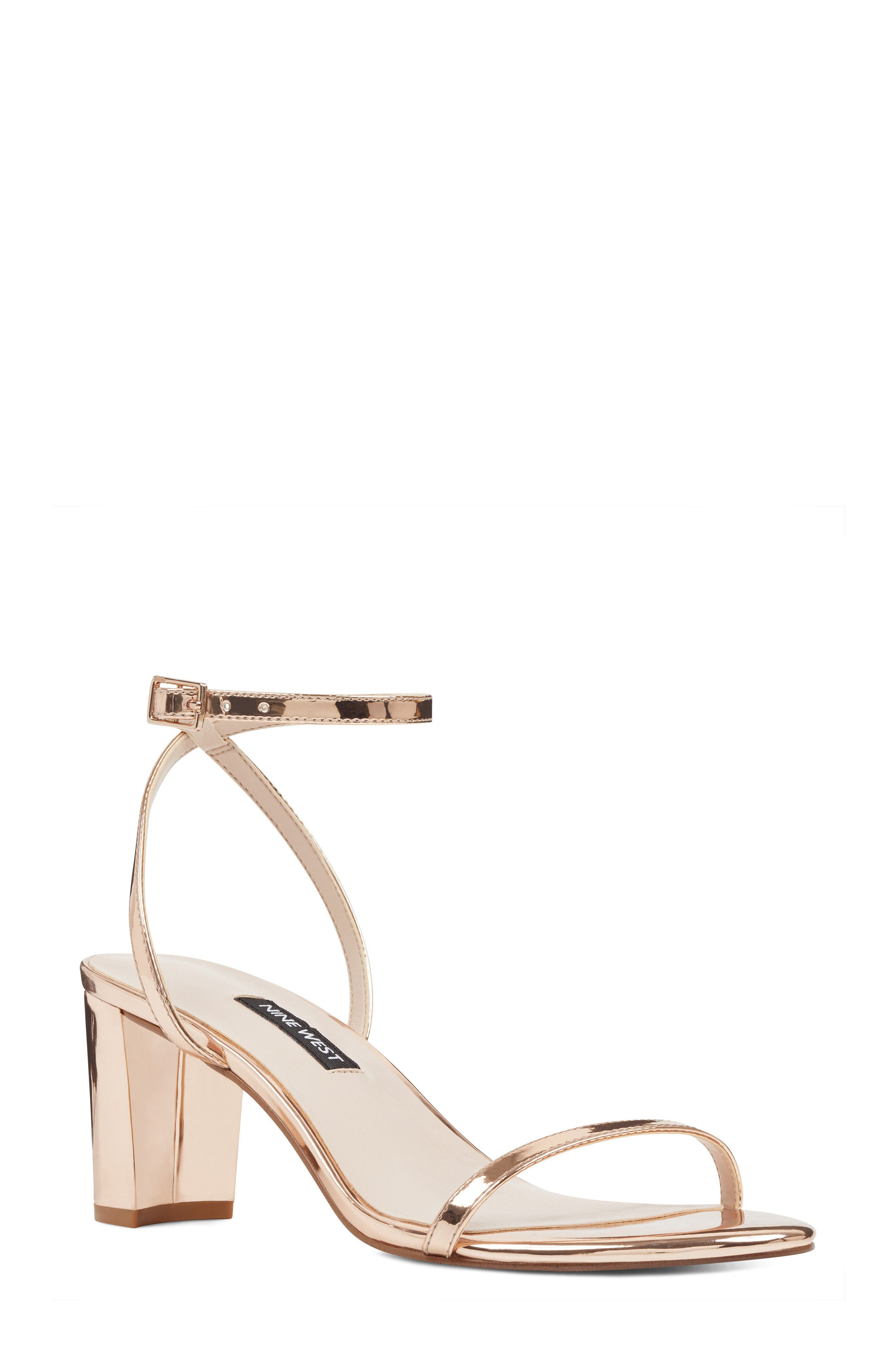 Provein Strappy Sandal,                         Main,                         color, Pink Faux Leather