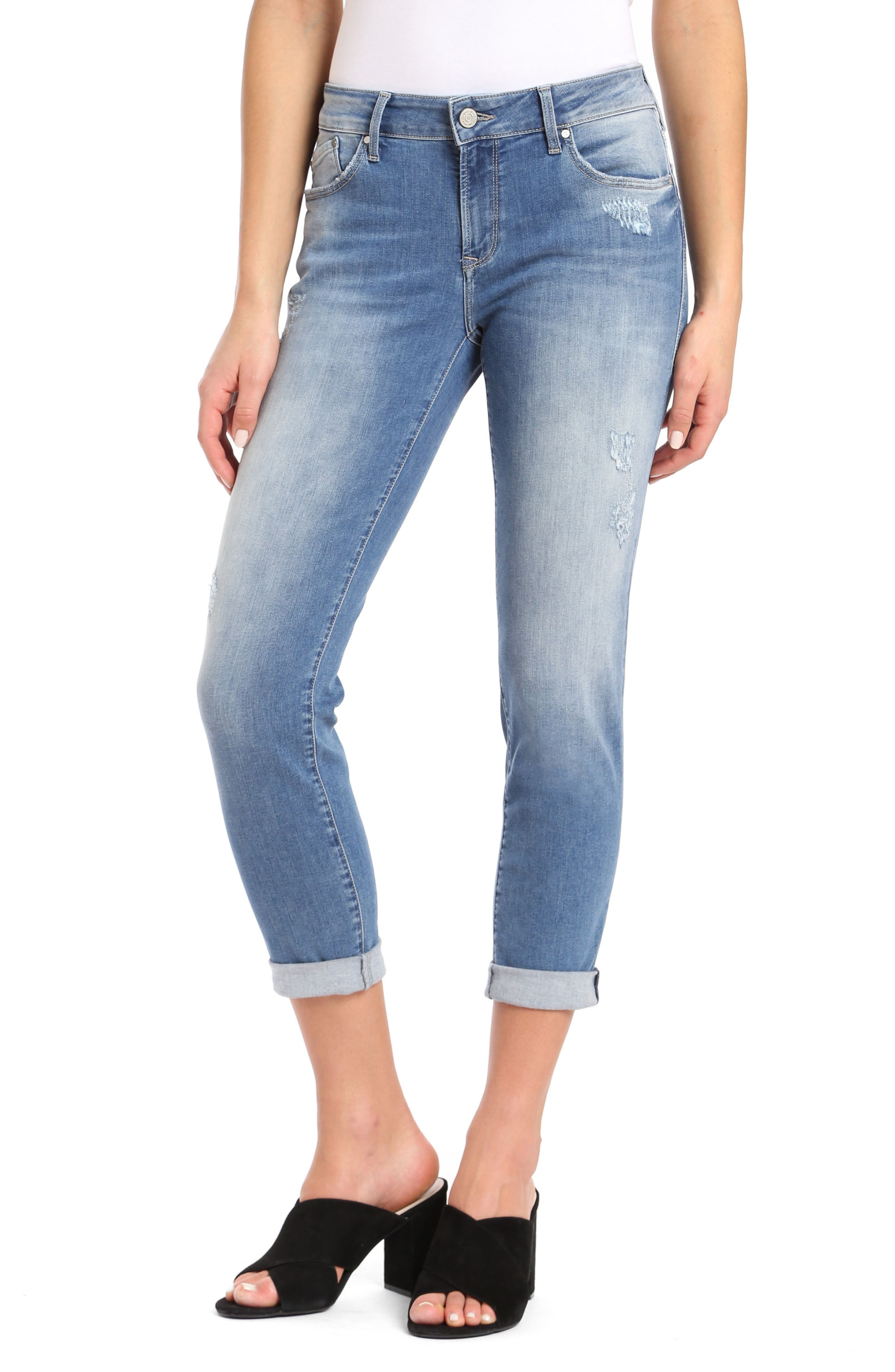 Emma Slim Boyfriend Jeans,                         Main,                         color, Indigo Ripped Nolita