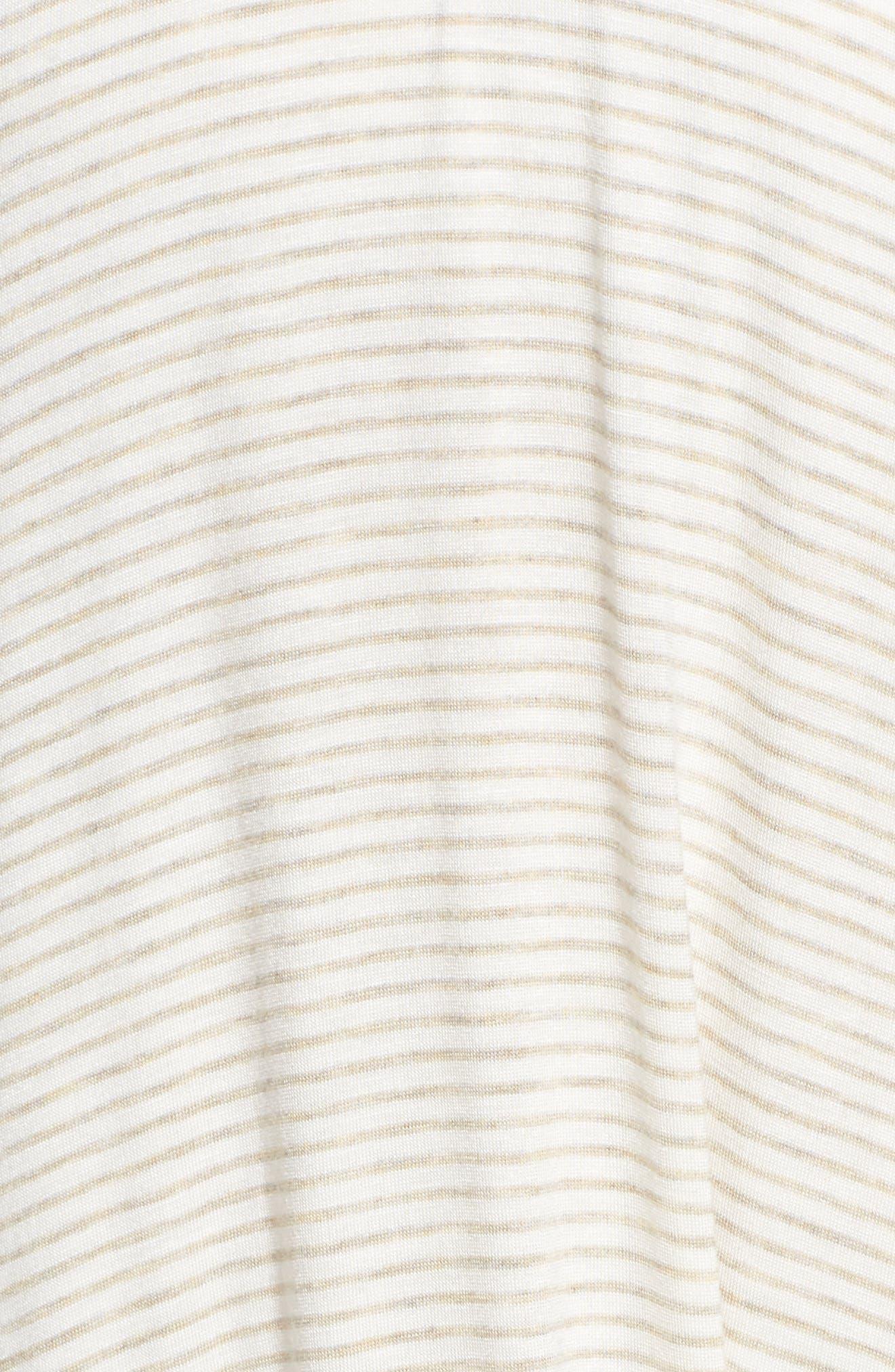 High Neck Cover-Up Dress,                             Alternate thumbnail 5, color,                             Natural Stripe
