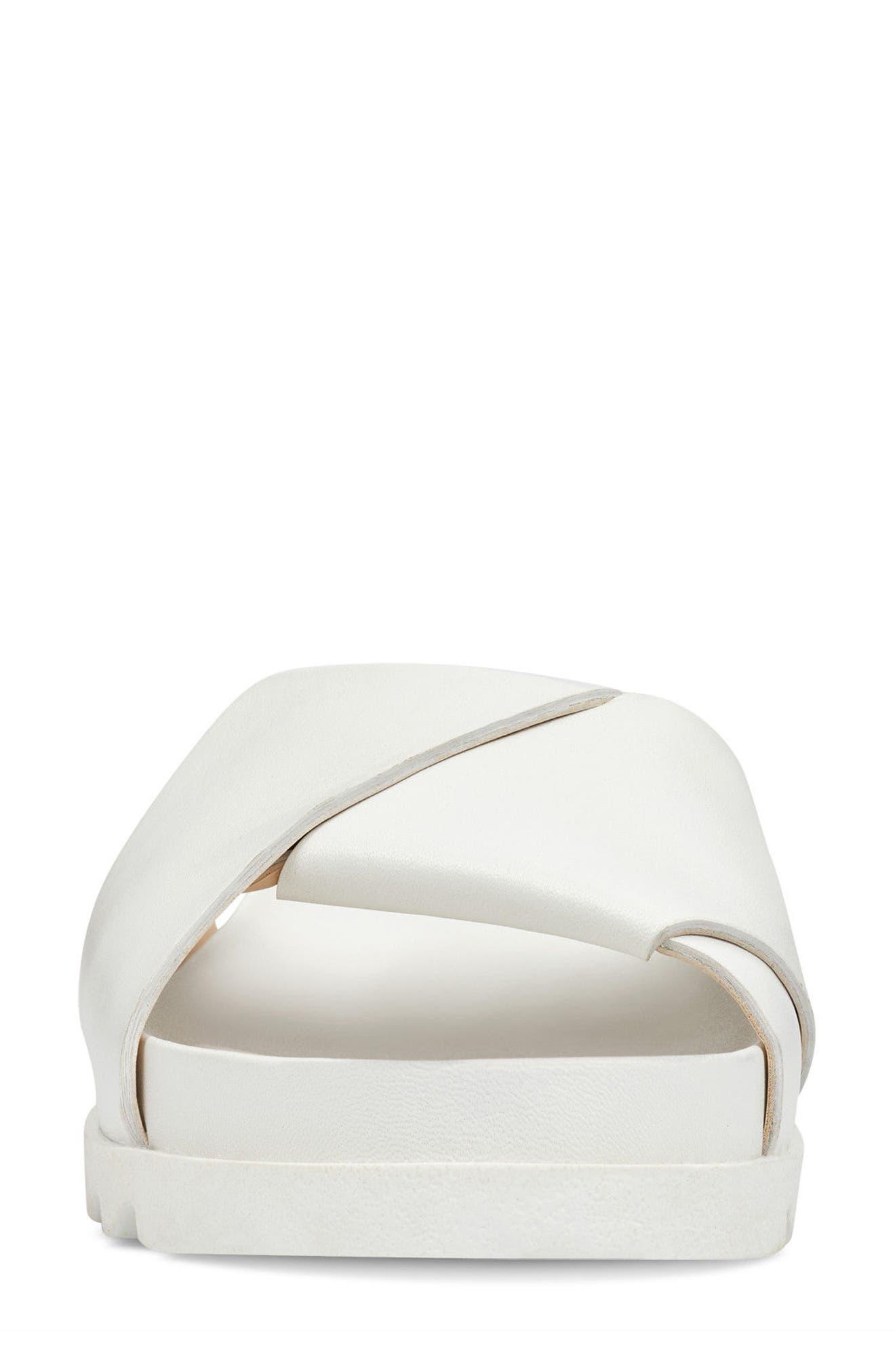 Furaish Slide Sandal,                             Alternate thumbnail 4, color,                             White Leather