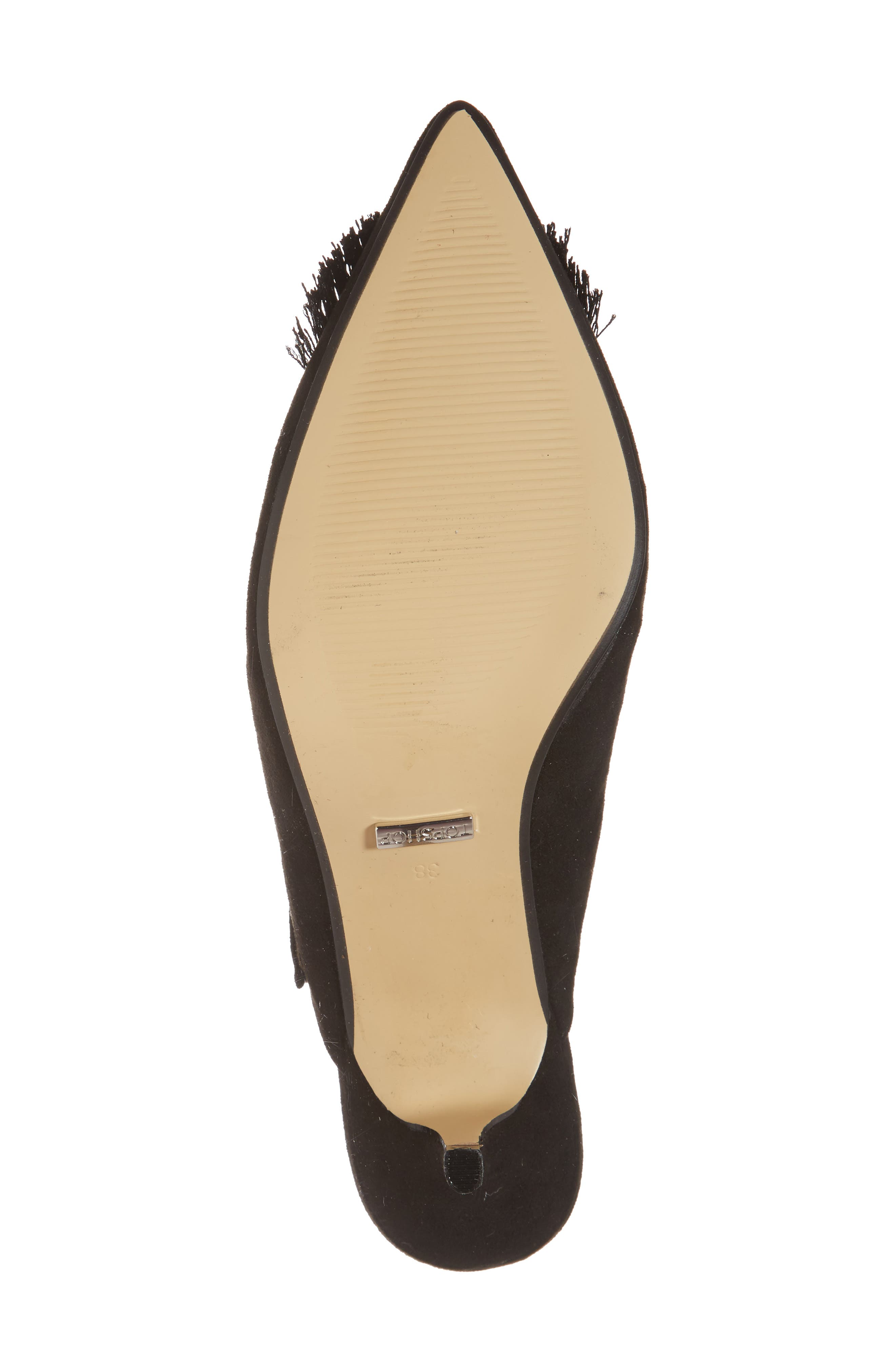 Jumbo Tassel Mule,                             Alternate thumbnail 6, color,                             Black