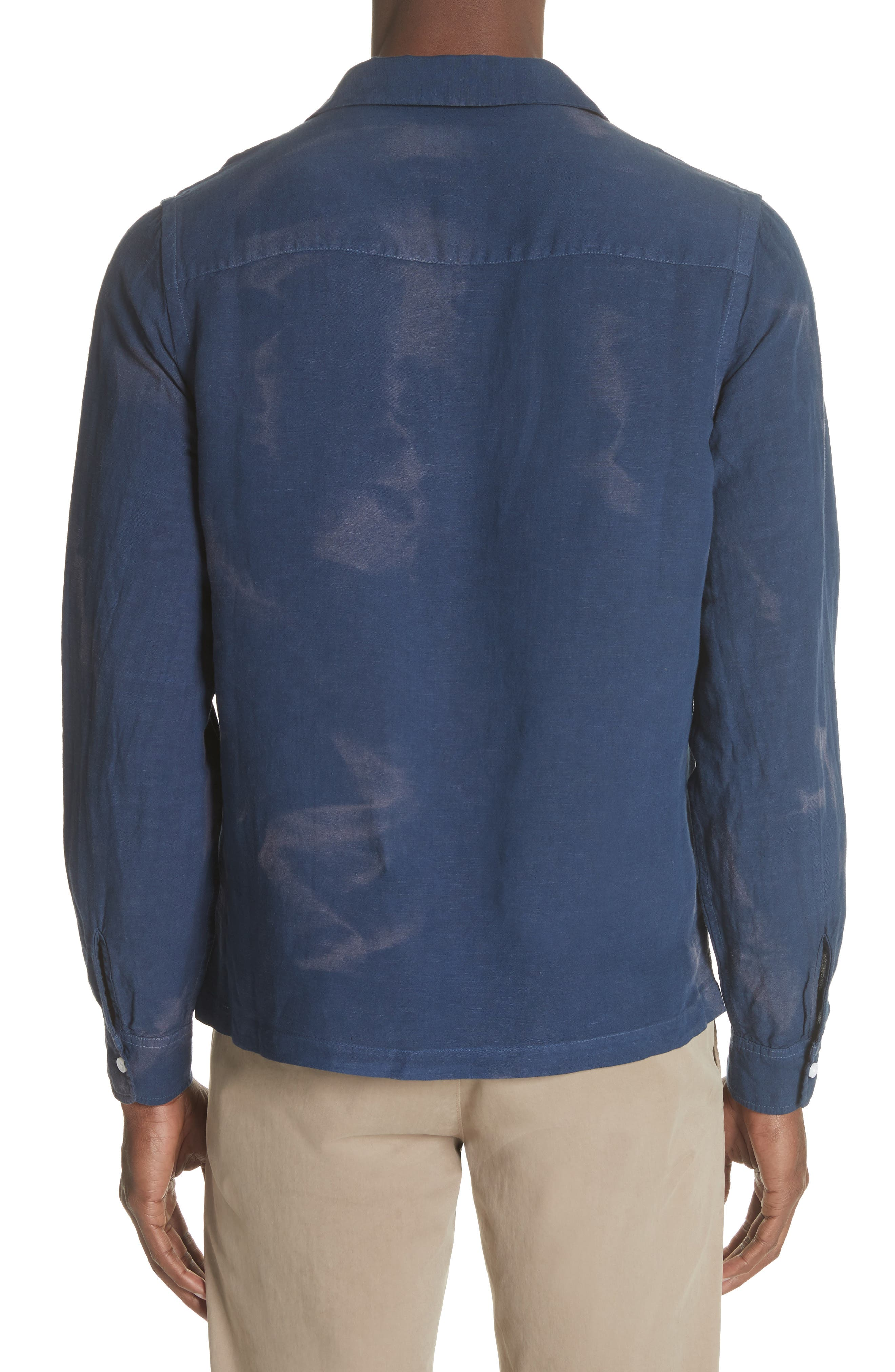 Canty Long Sleeve Camp Shirt,                             Alternate thumbnail 2, color,                             Midnight