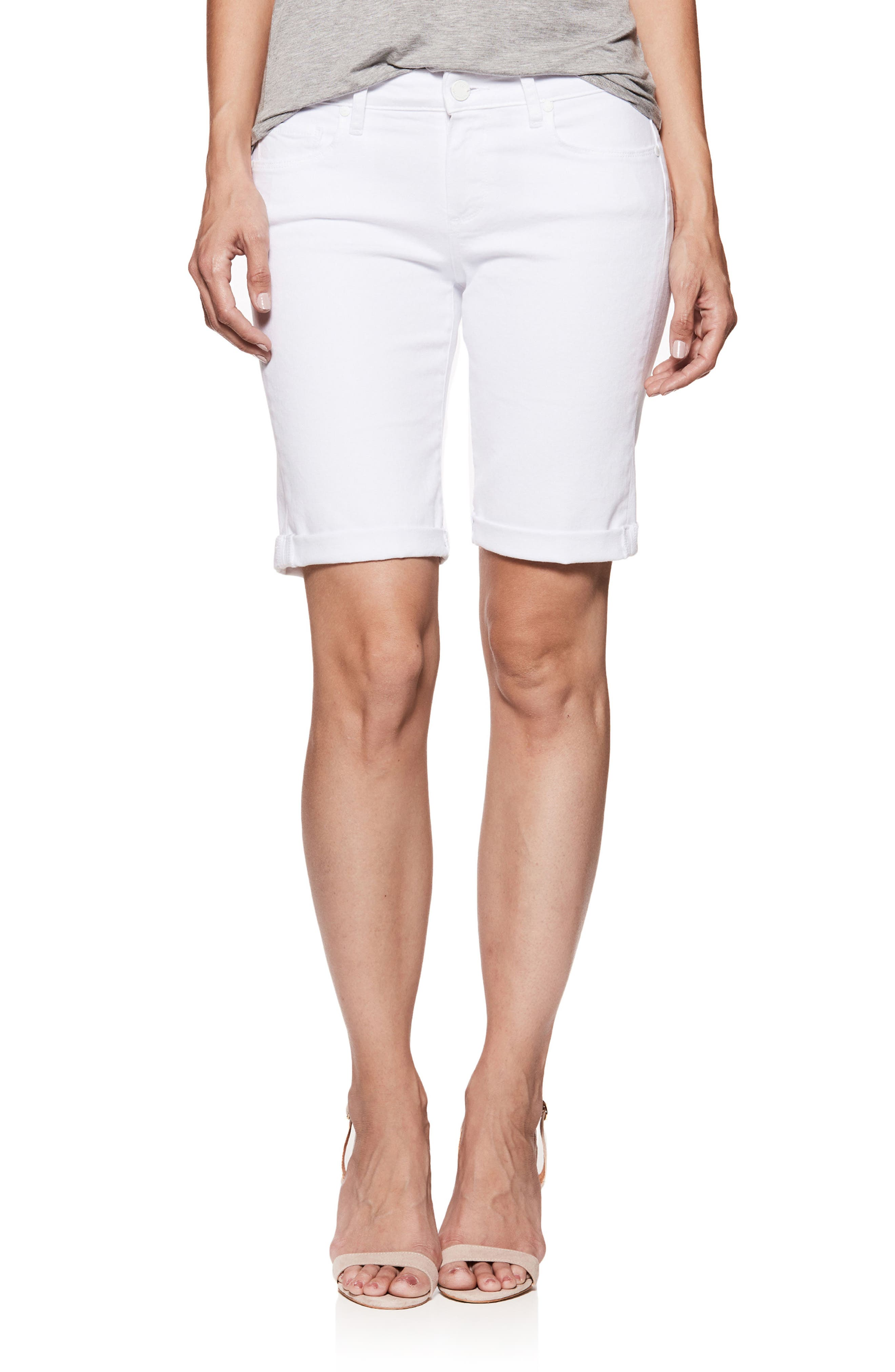 Jax Denim Bermuda Shorts,                         Main,                         color, Crisp White