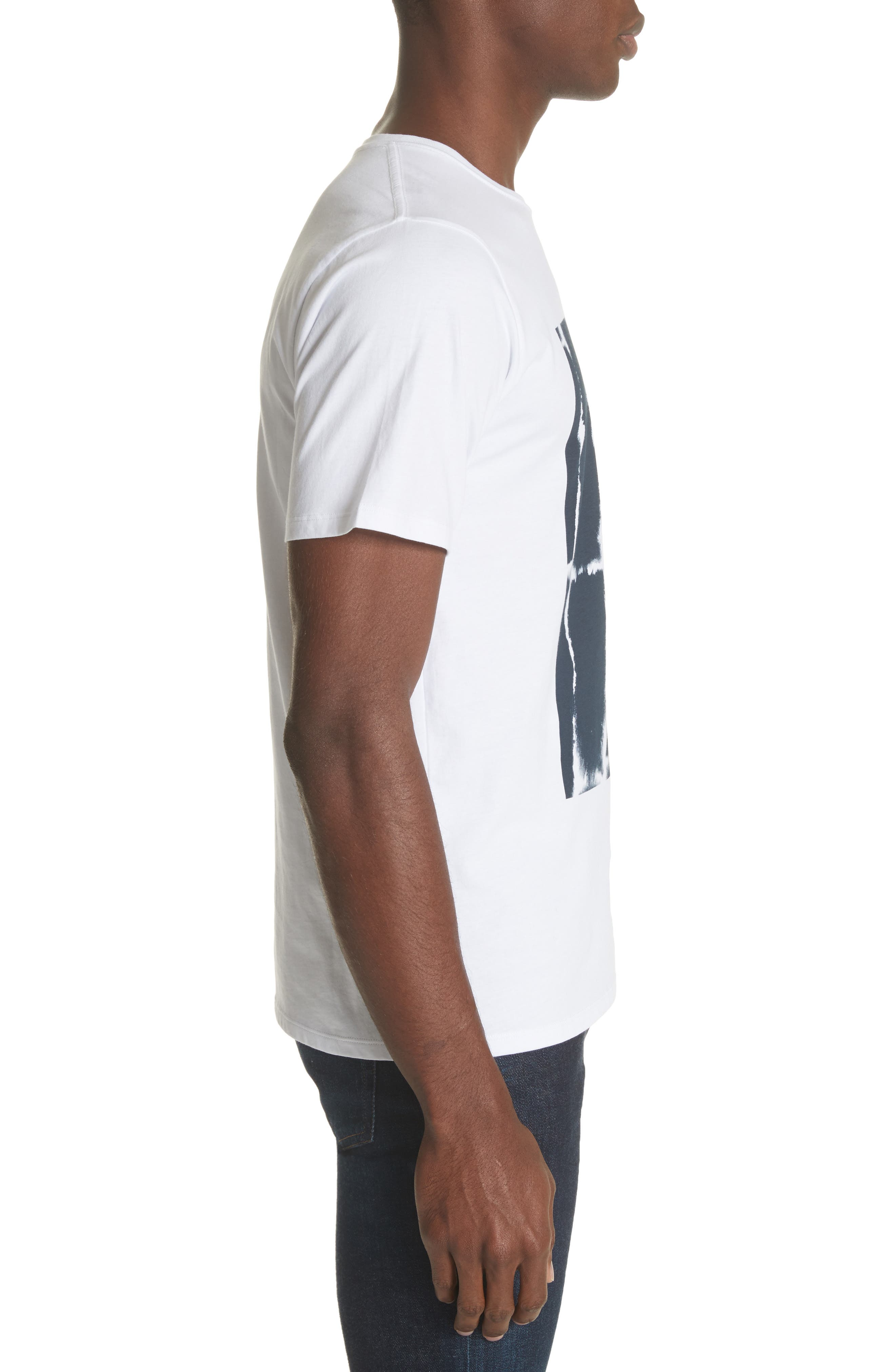 Water Stack Graphic T-Shirt,                             Alternate thumbnail 3, color,                             White