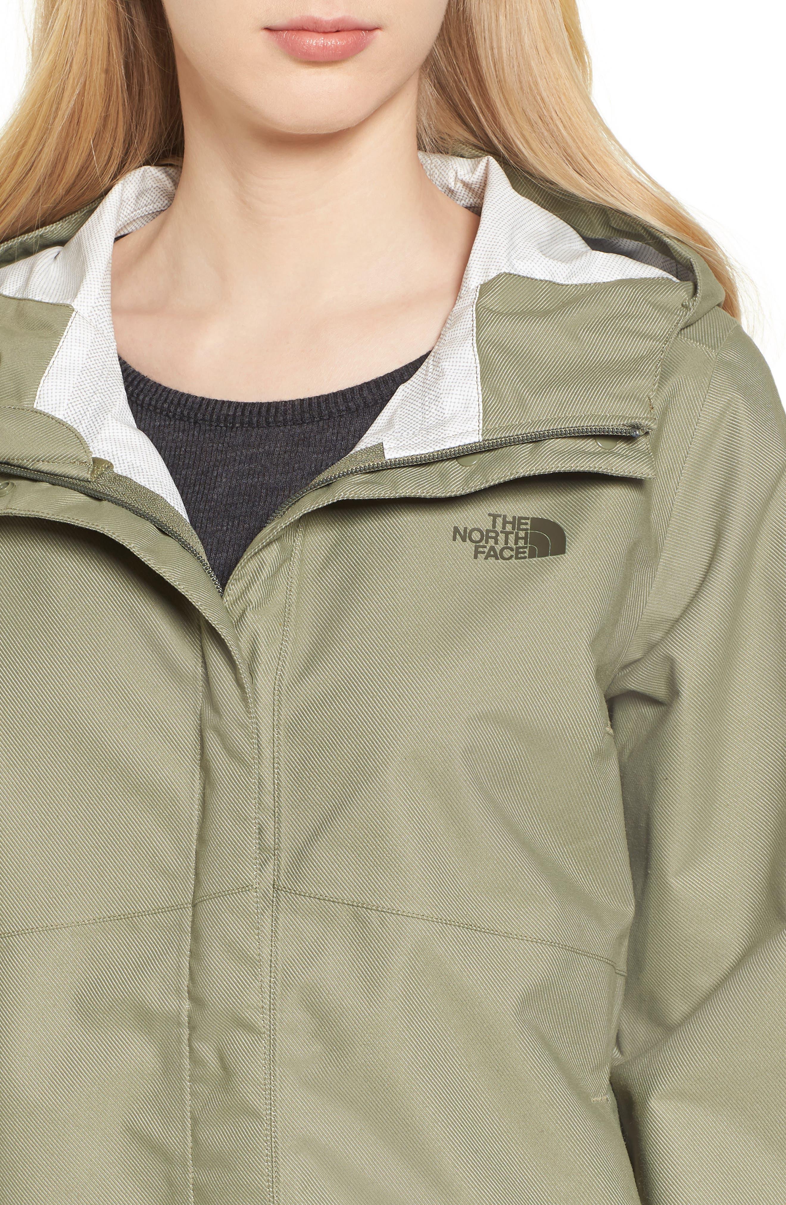 Berrien Waterproof Jacket,                             Alternate thumbnail 4, color,                             Deep Lichen Green Denim