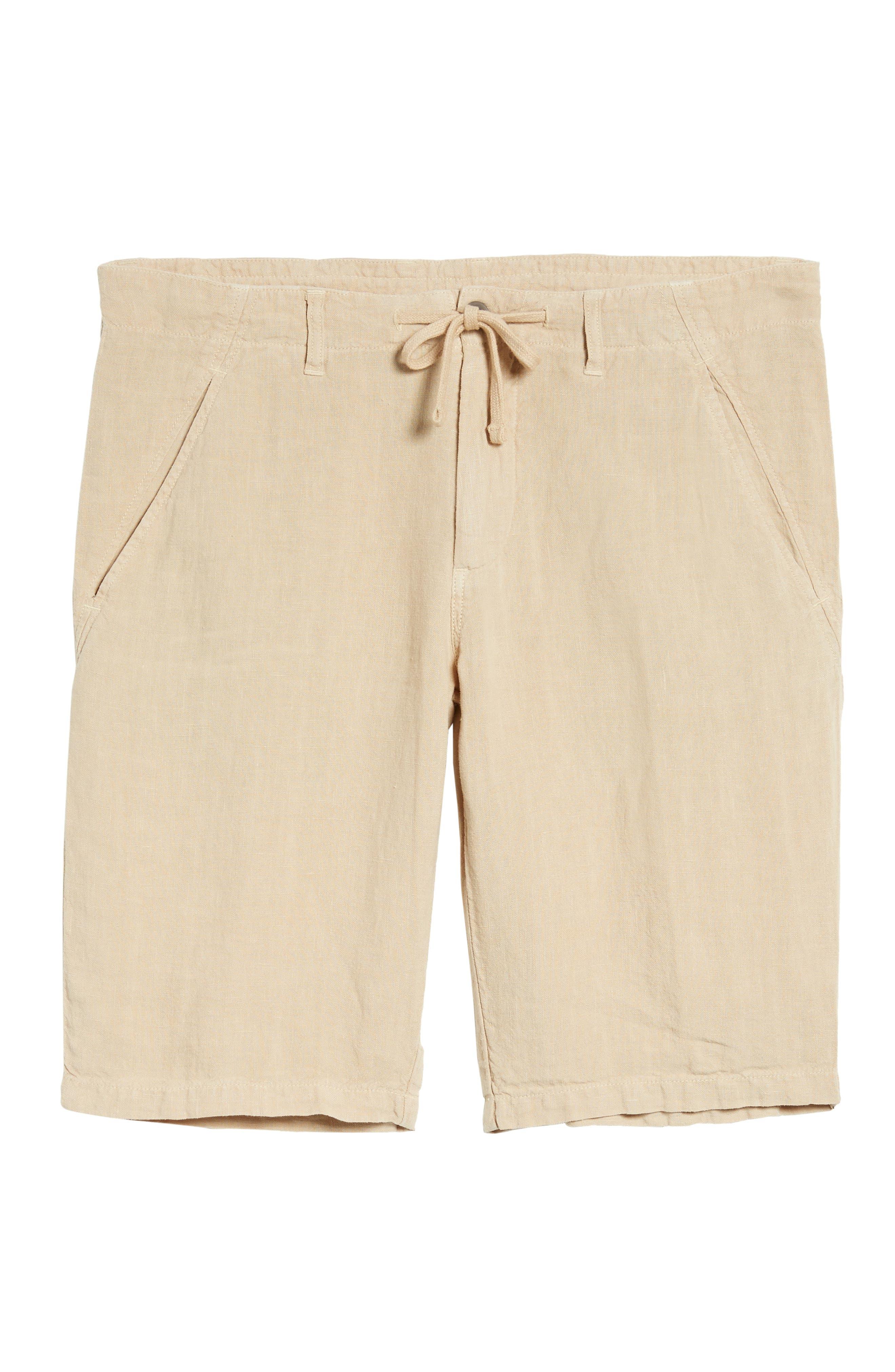 & Bros. Linen Shorts,                             Alternate thumbnail 6, color,                             Desert Dust
