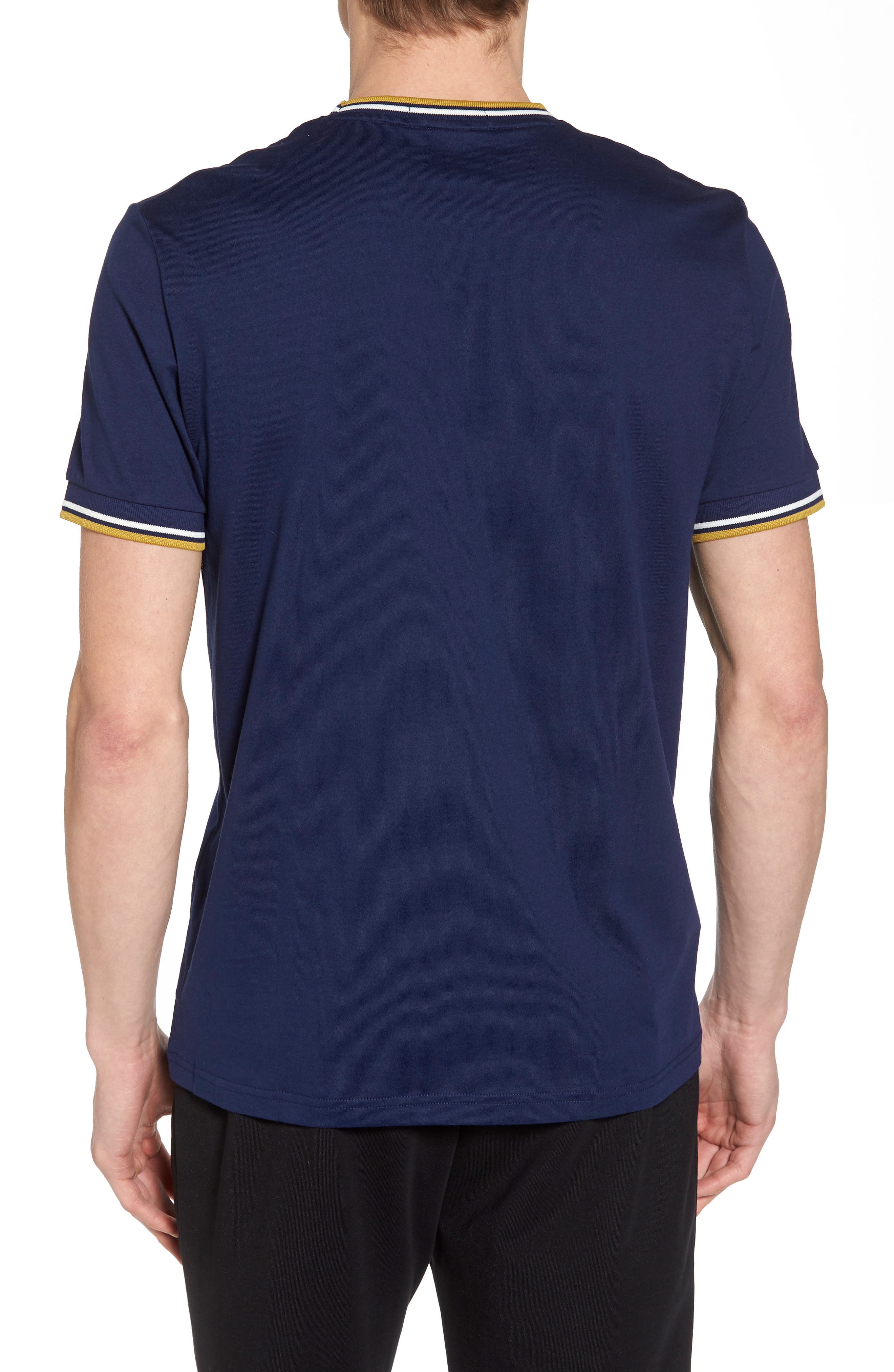 Tipped T-Shirt,                             Alternate thumbnail 2, color,                             French Navy