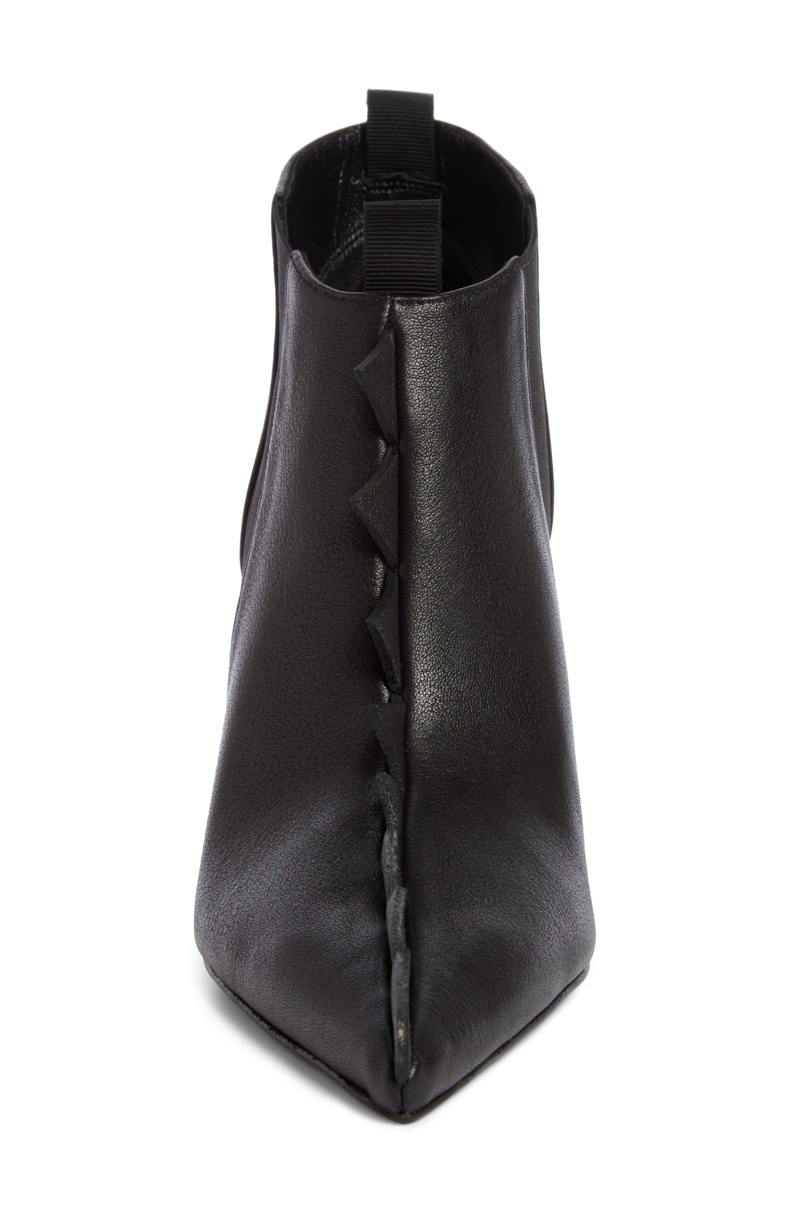 Geo Trim Pointy Toe Boot,                             Alternate thumbnail 4, color,                             Black