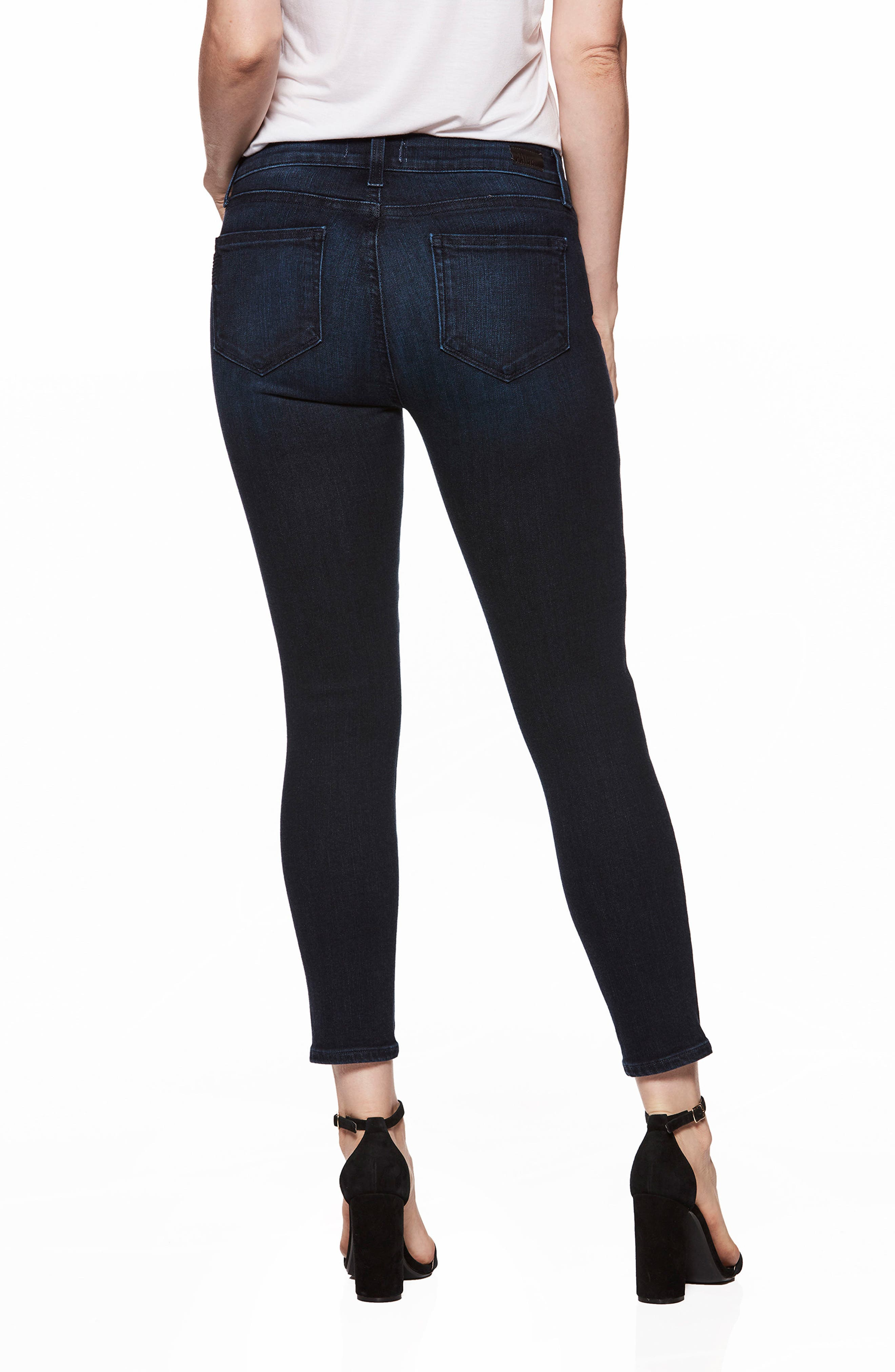 Transcend Vintage - Verdugo Crop Ultra Skinny Jeans,                             Alternate thumbnail 3, color,                             Luella