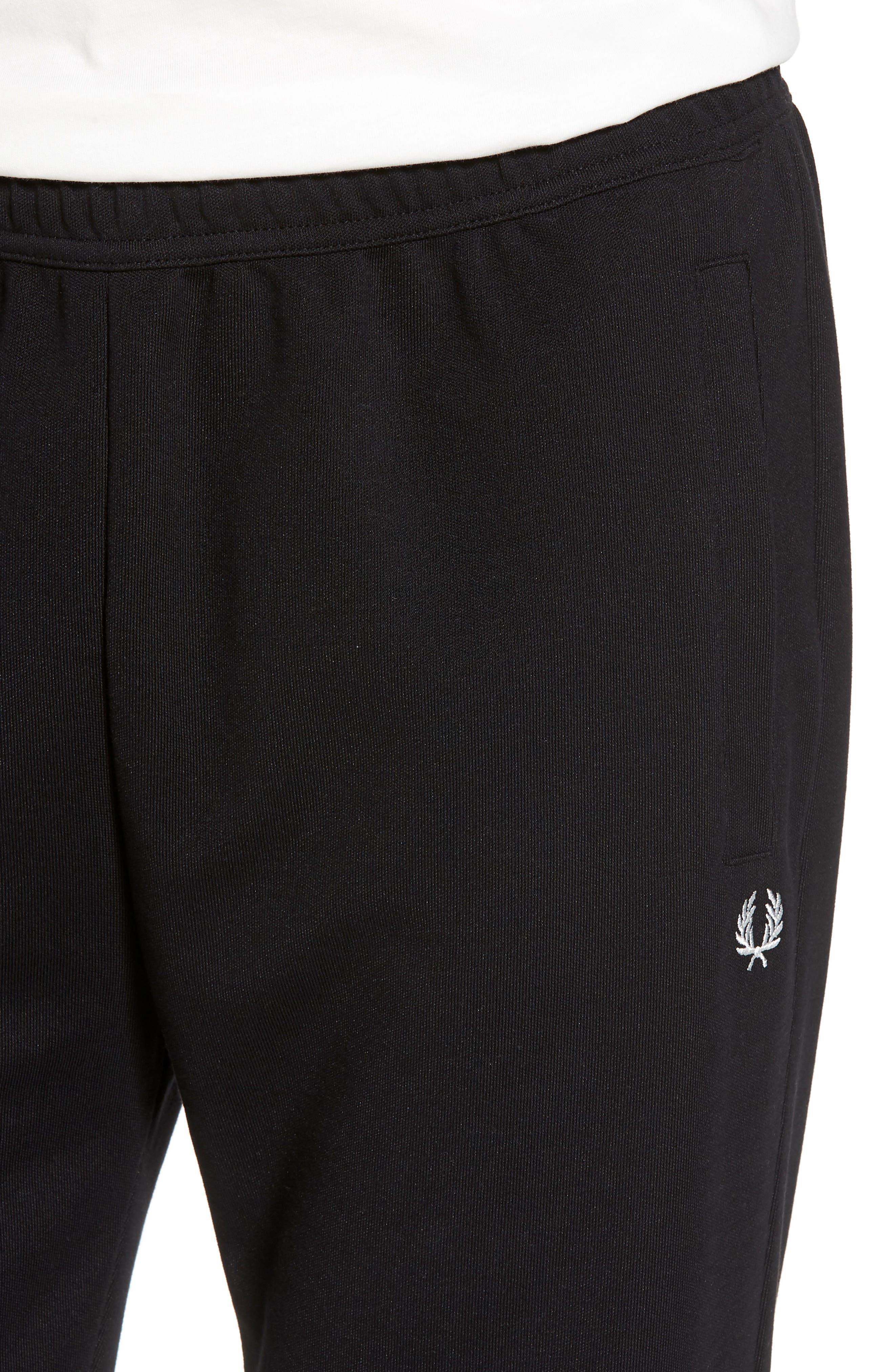 Reverse Tricot Track Pants,                             Alternate thumbnail 4, color,                             Black