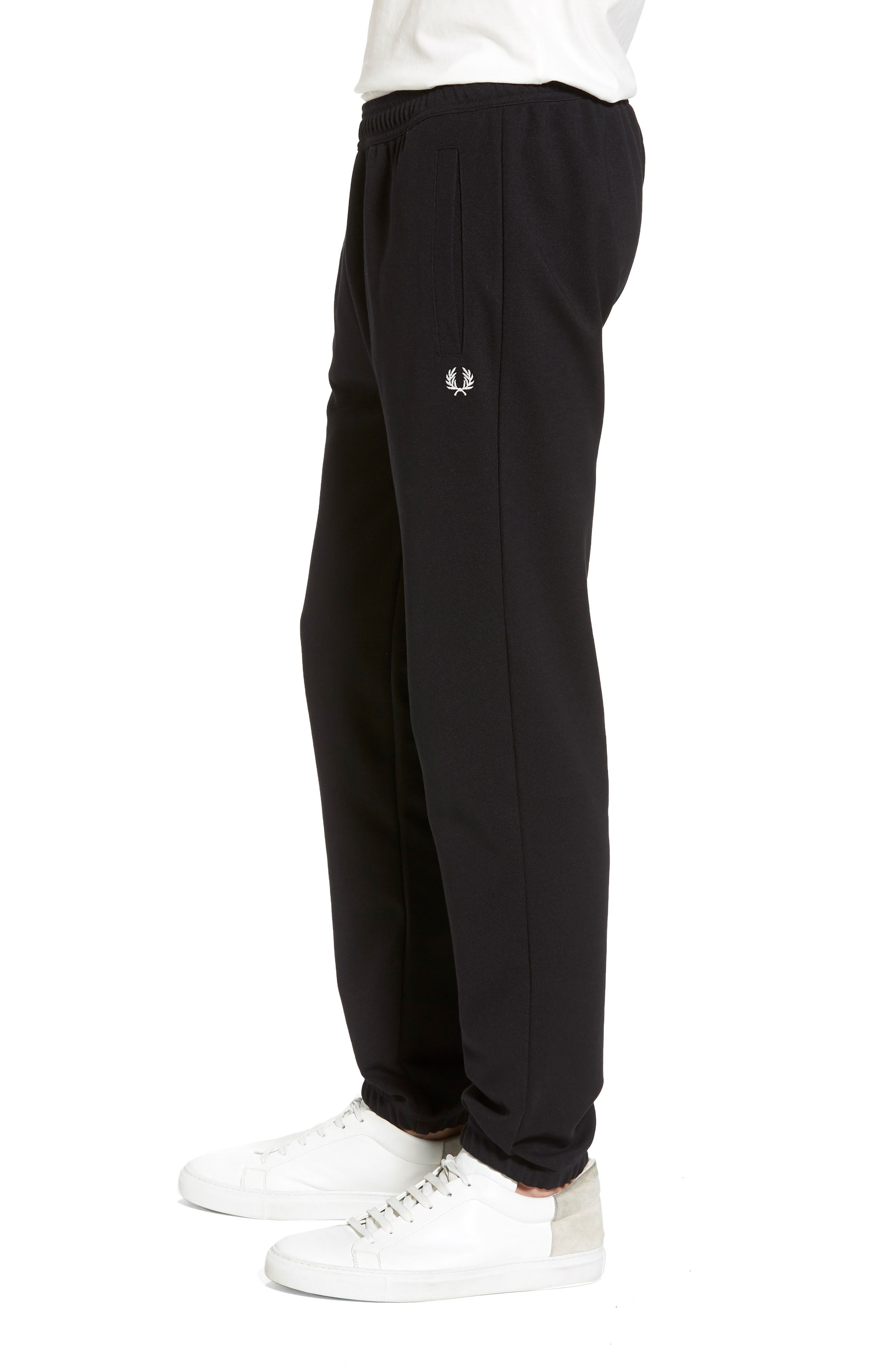 Reverse Tricot Track Pants,                             Alternate thumbnail 3, color,                             Black