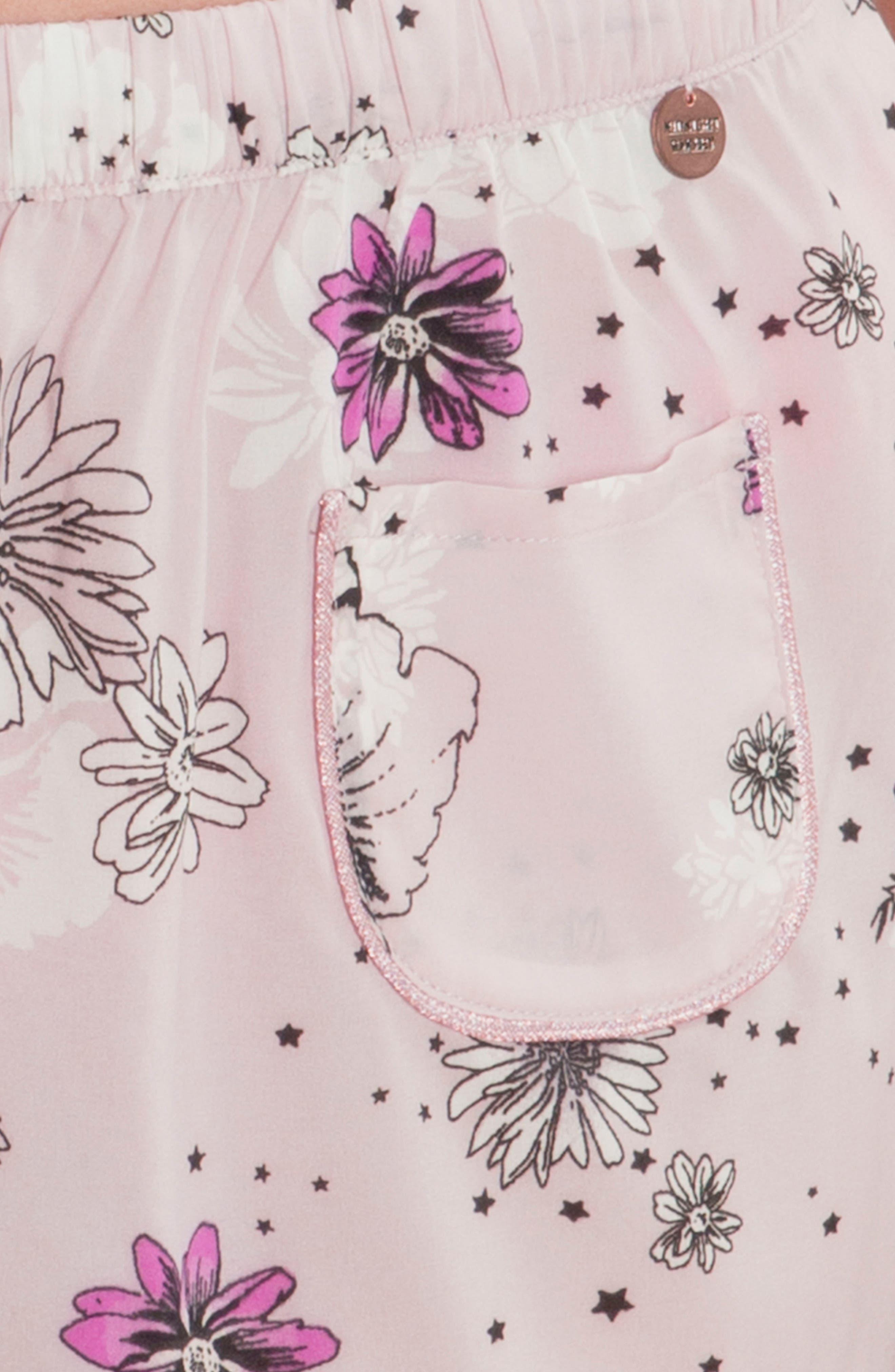 Print Pajama Shorts,                             Alternate thumbnail 4, color,                             Lilac