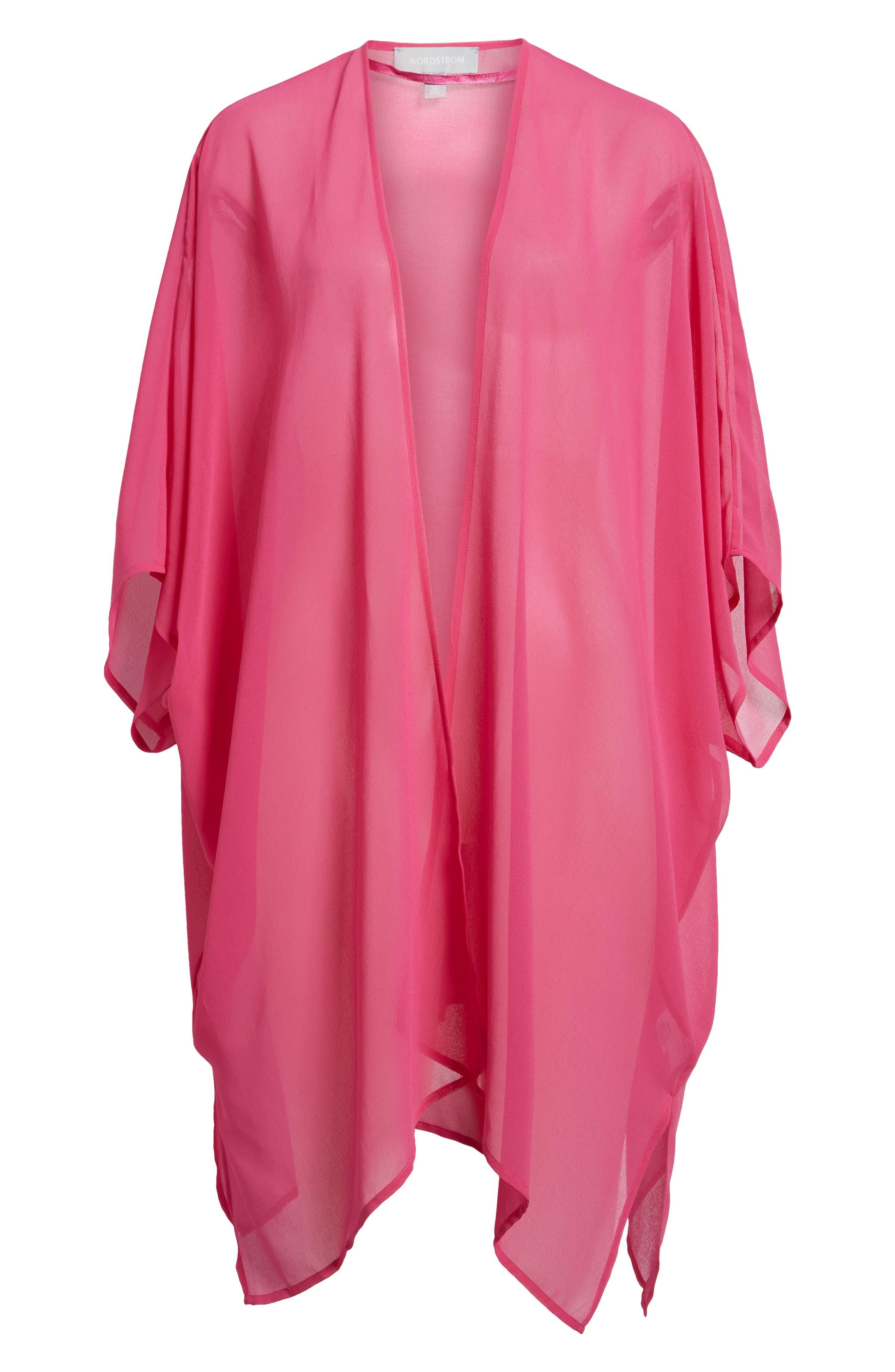 Alternate Image 6  - Nordstrom Chiffon Cover-Up Kimono