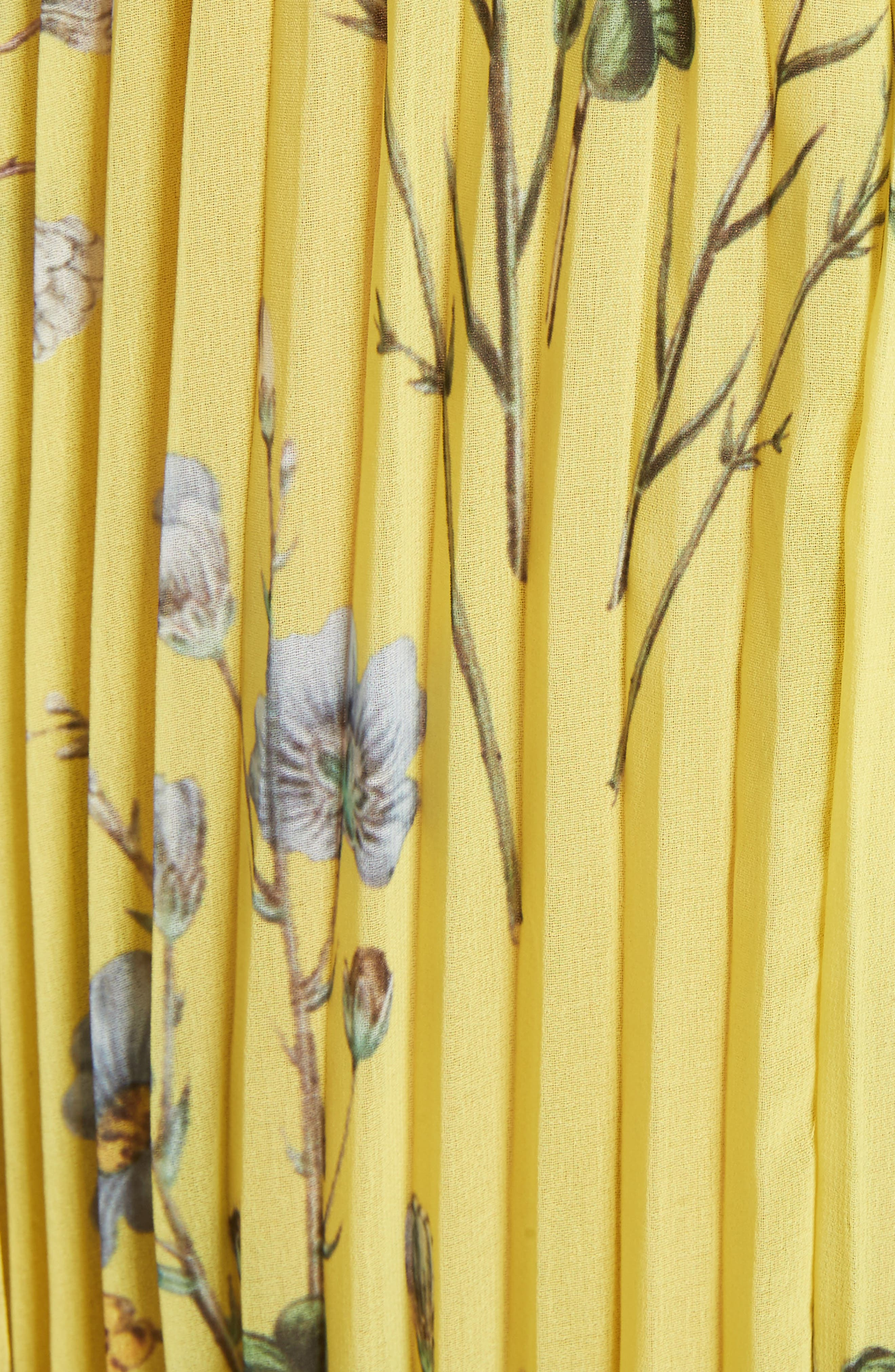 Alternate Image 5  - Self-Portrait Floral Pleated Cold Shoulder Maxi Dress